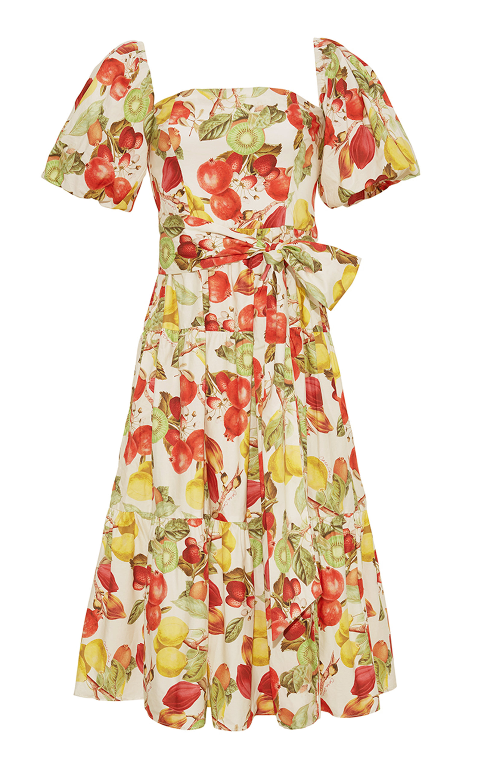 Women's Sydney Printed Cotton Midi Dress