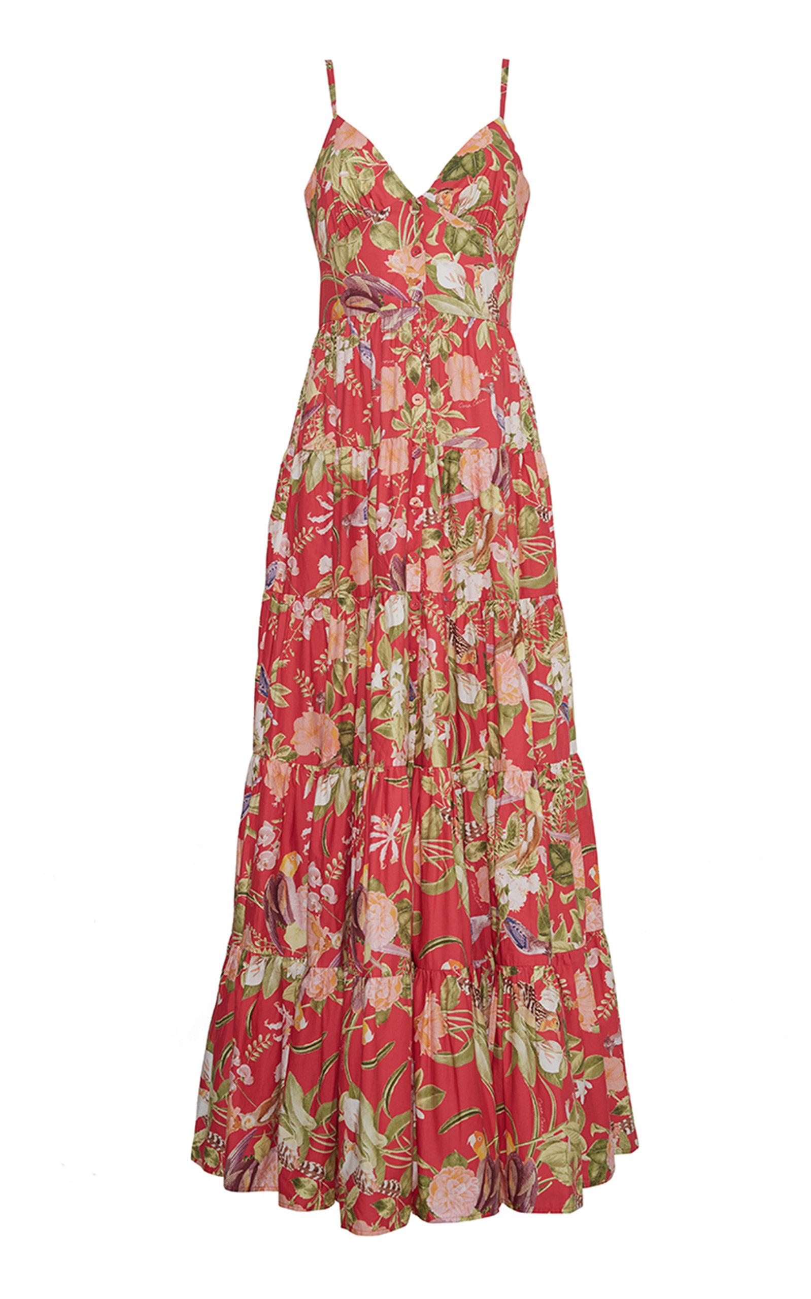 Women's Nathali Printed Cotton Poplin Maxi Dress
