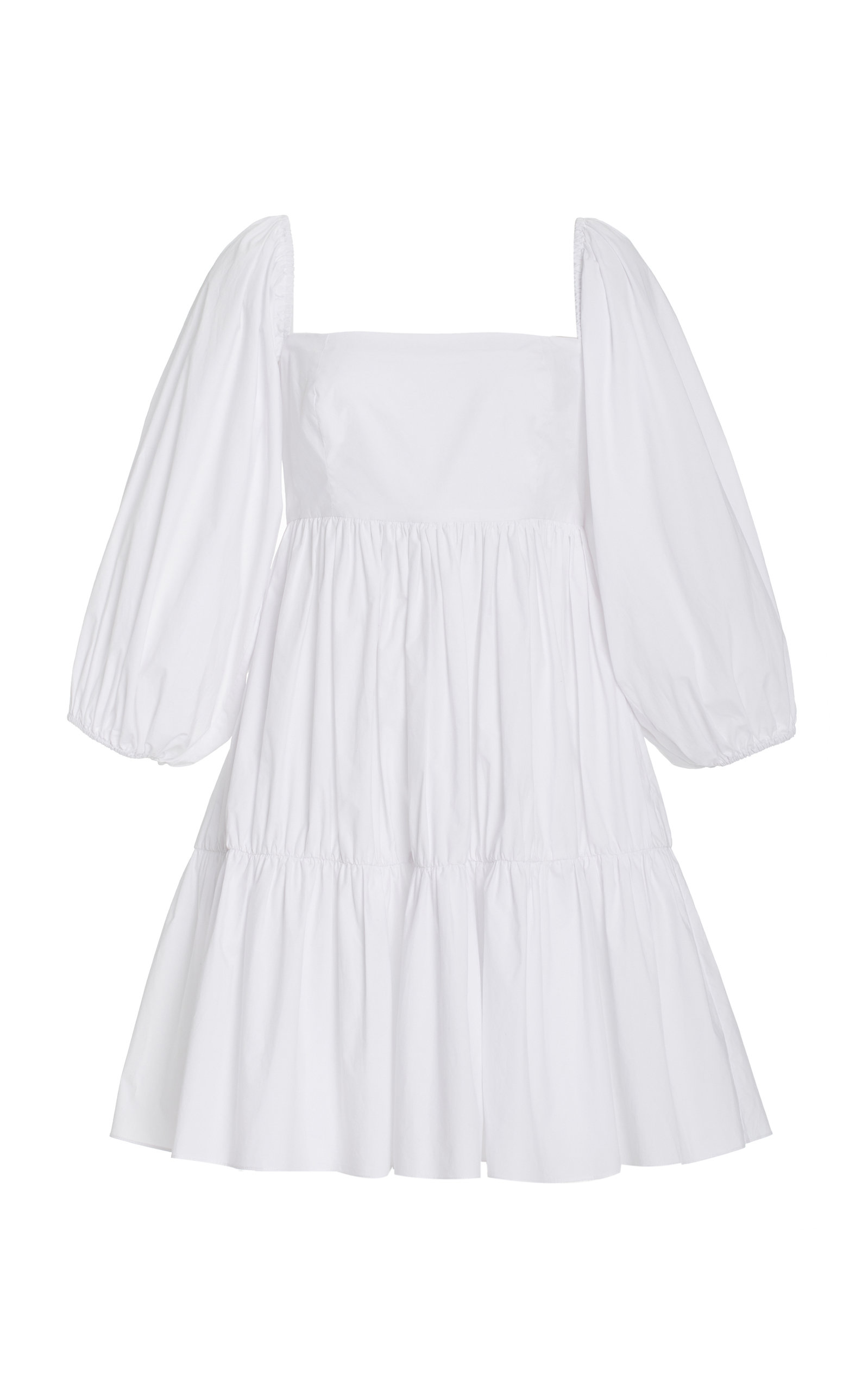 Women's Sip Sip Tiered Cotton Poplin Mini Dress