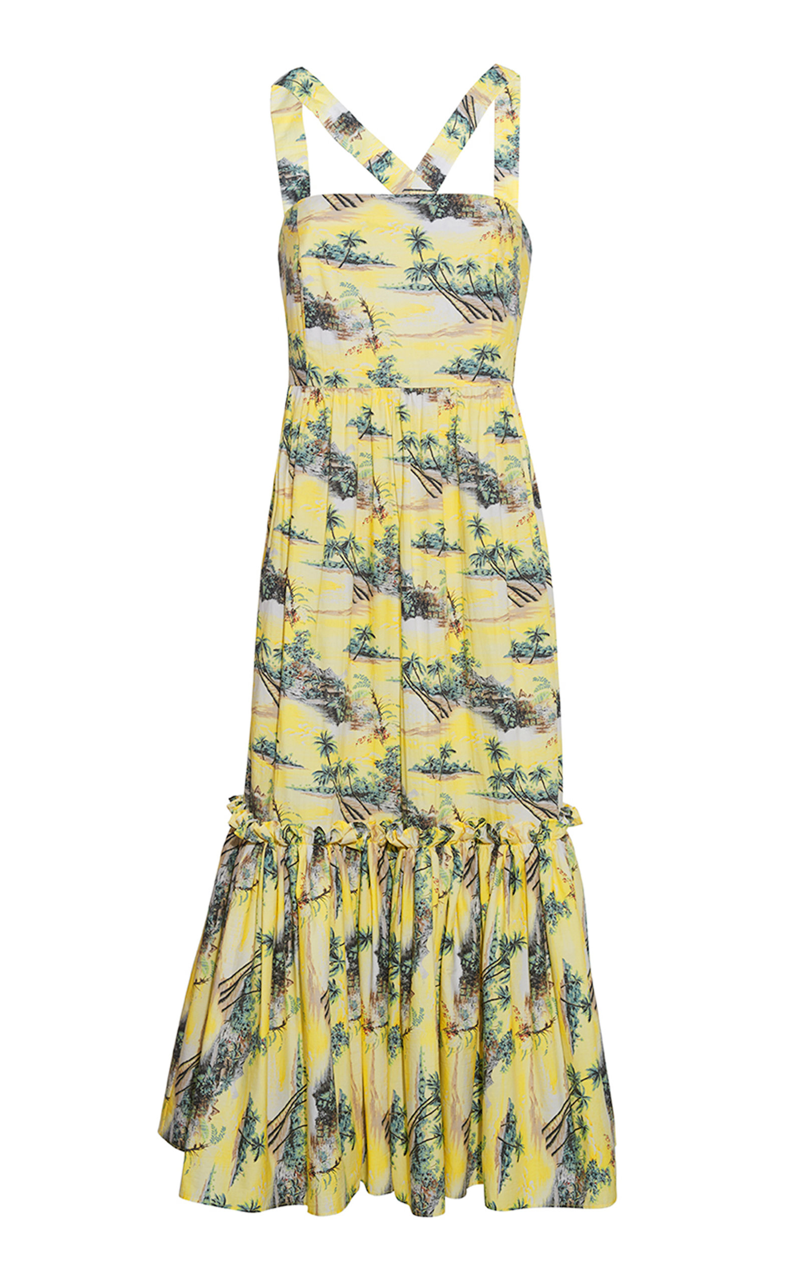 Women's Julia Printed Cotton Poplin Midi Dress