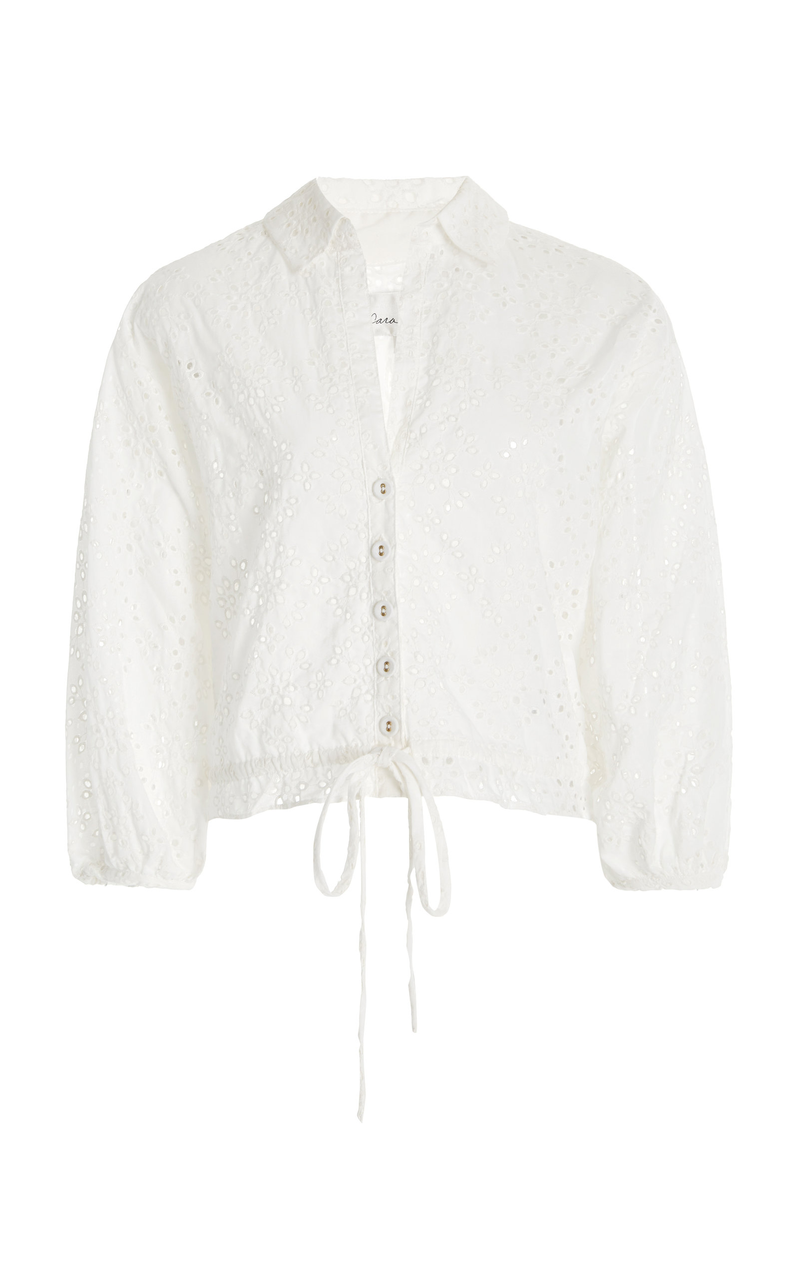 Women's Hutton Cotton Broderie Anglais Cropped Top