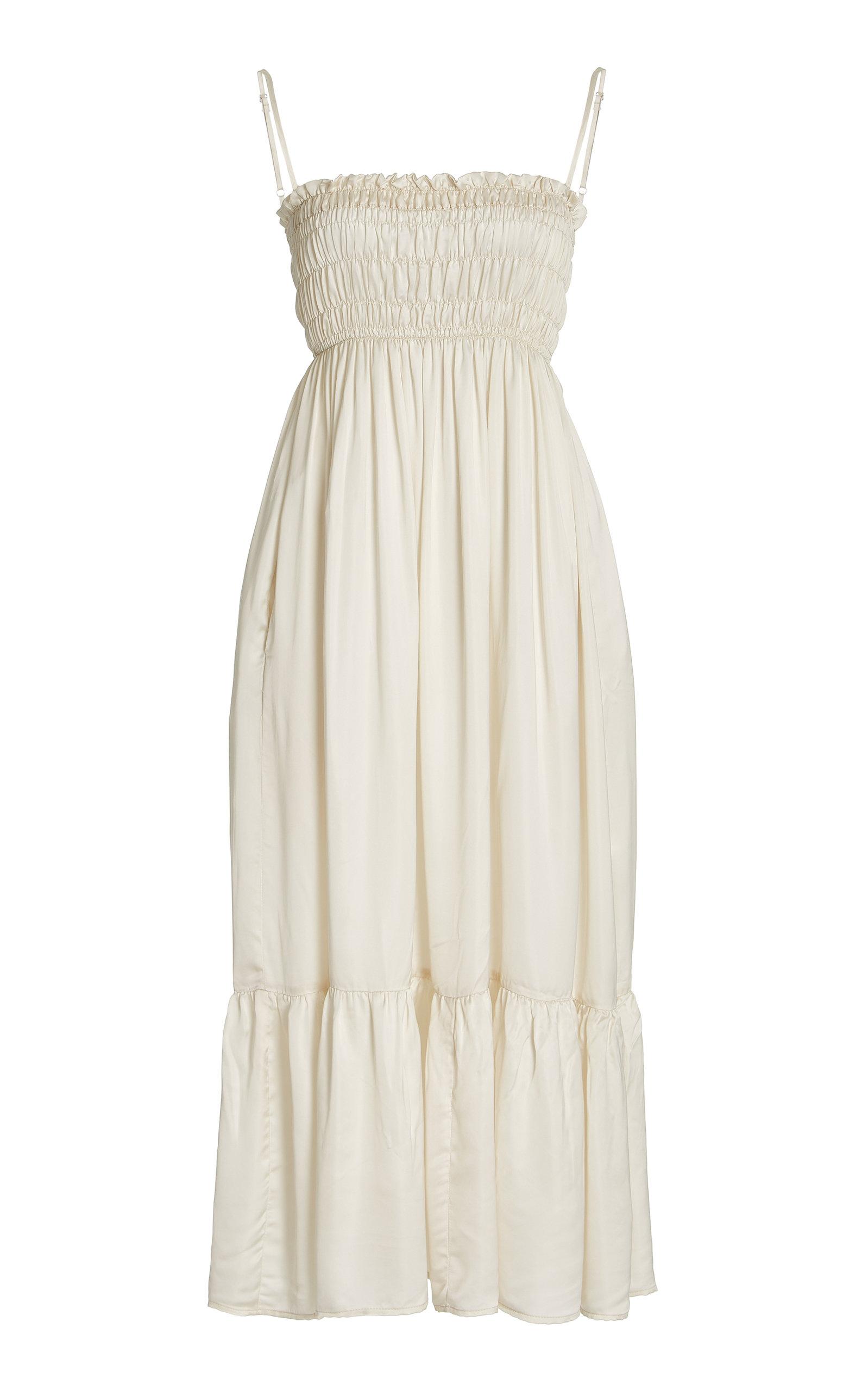 Women's Umbria Smocked Satin Maxi Dress