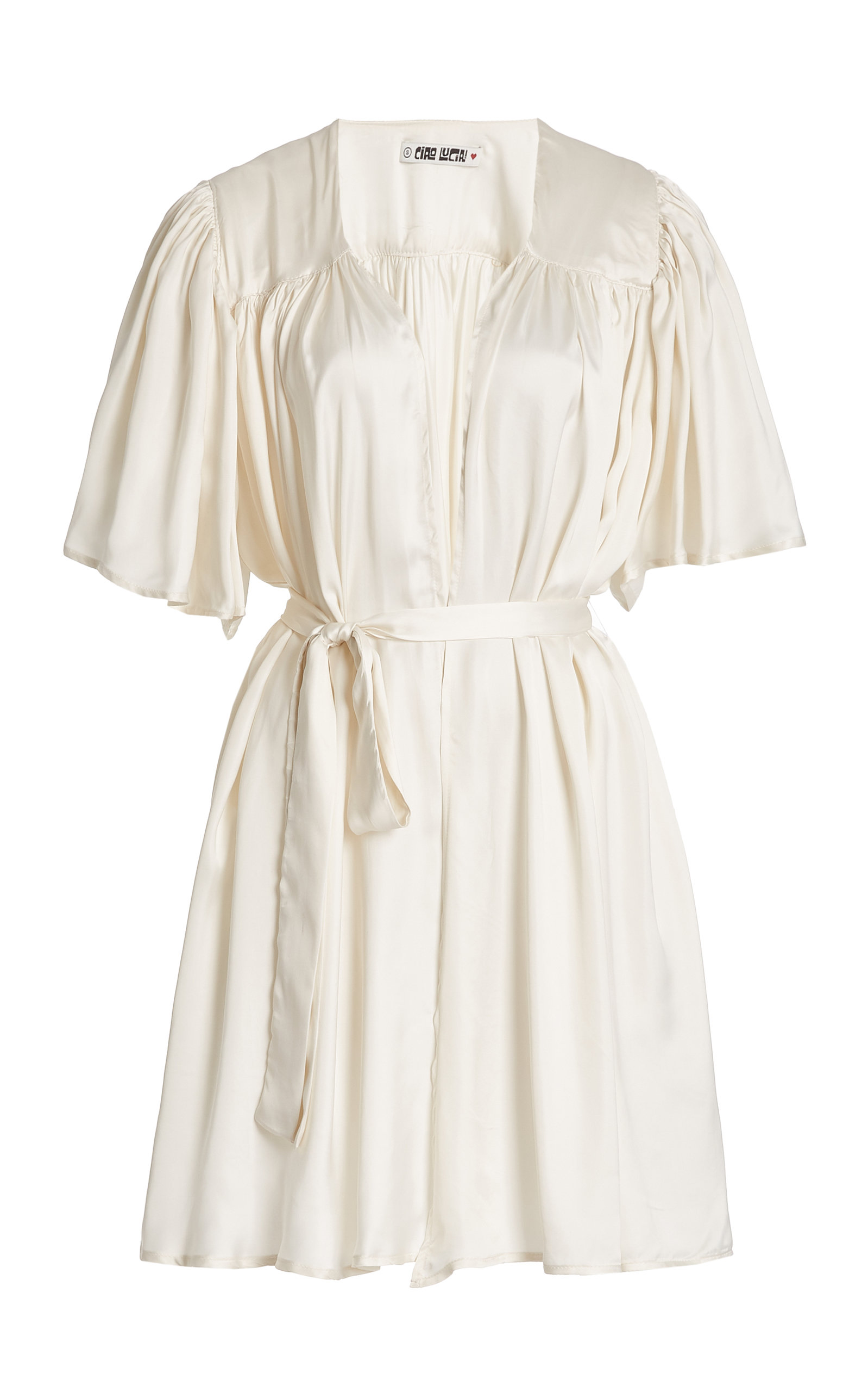Women's Sabrina Belted Voile Wrap Dress