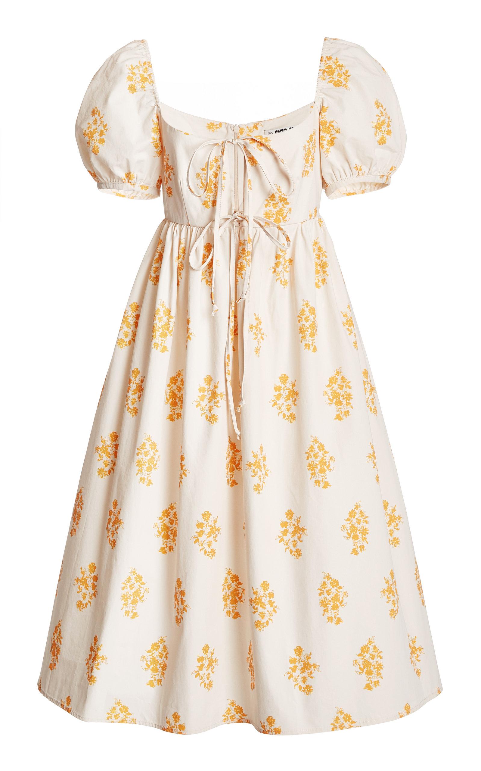 Women's Alessia Printed Cotton Poplin Midi Dress