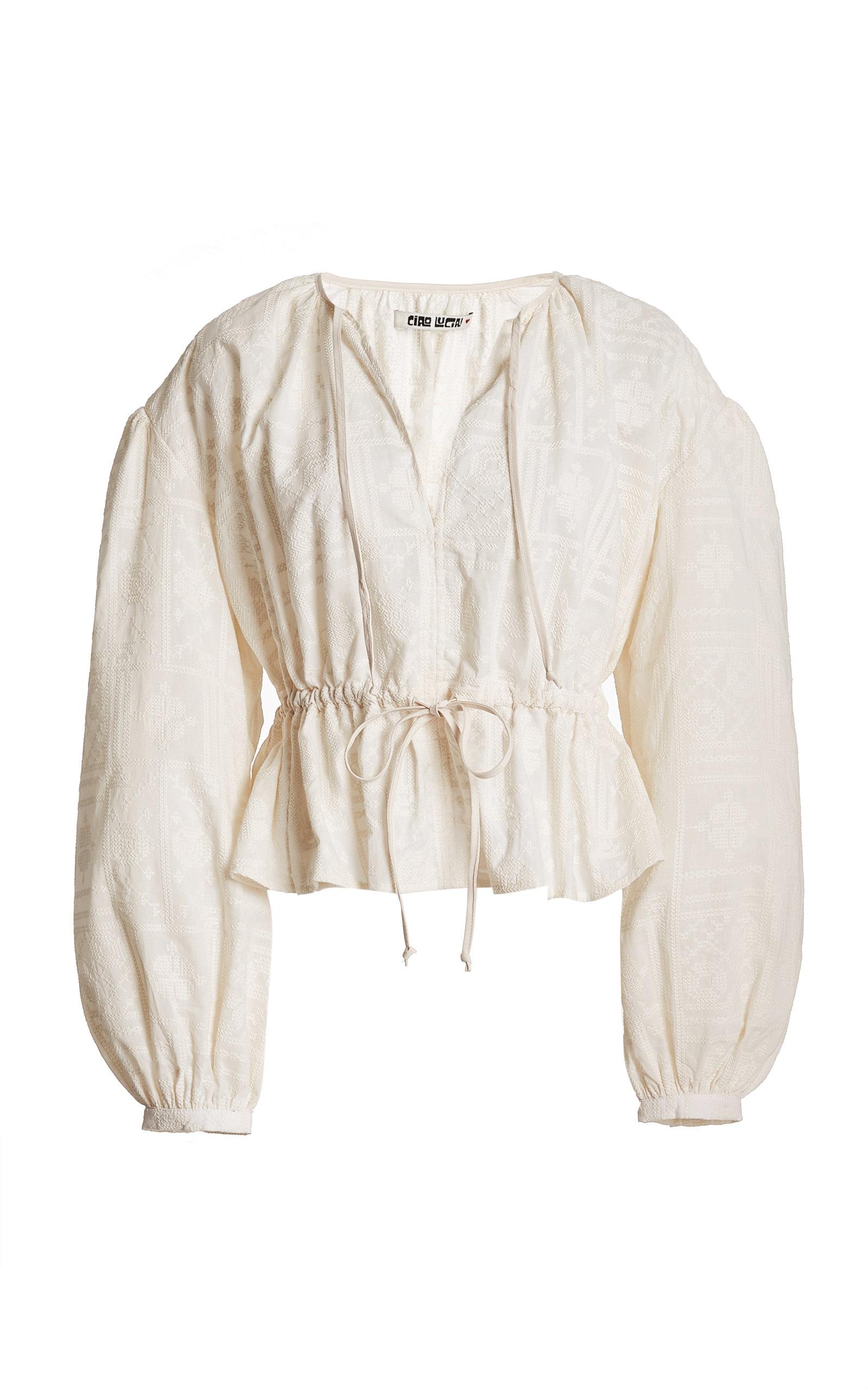 Women's Romina Cotton Peplum Top