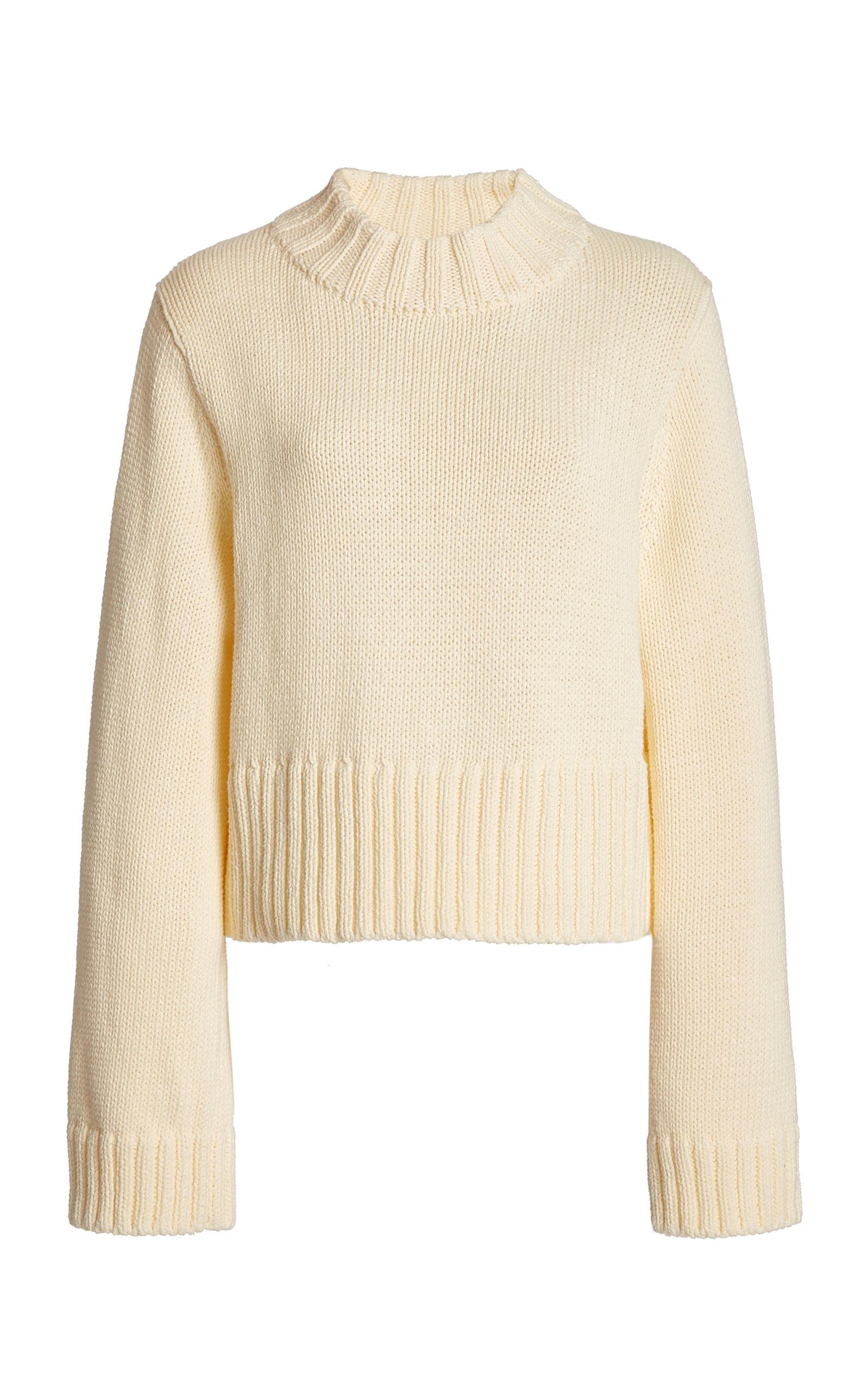 Women's Verona Cotton Mock-Neck Sweater