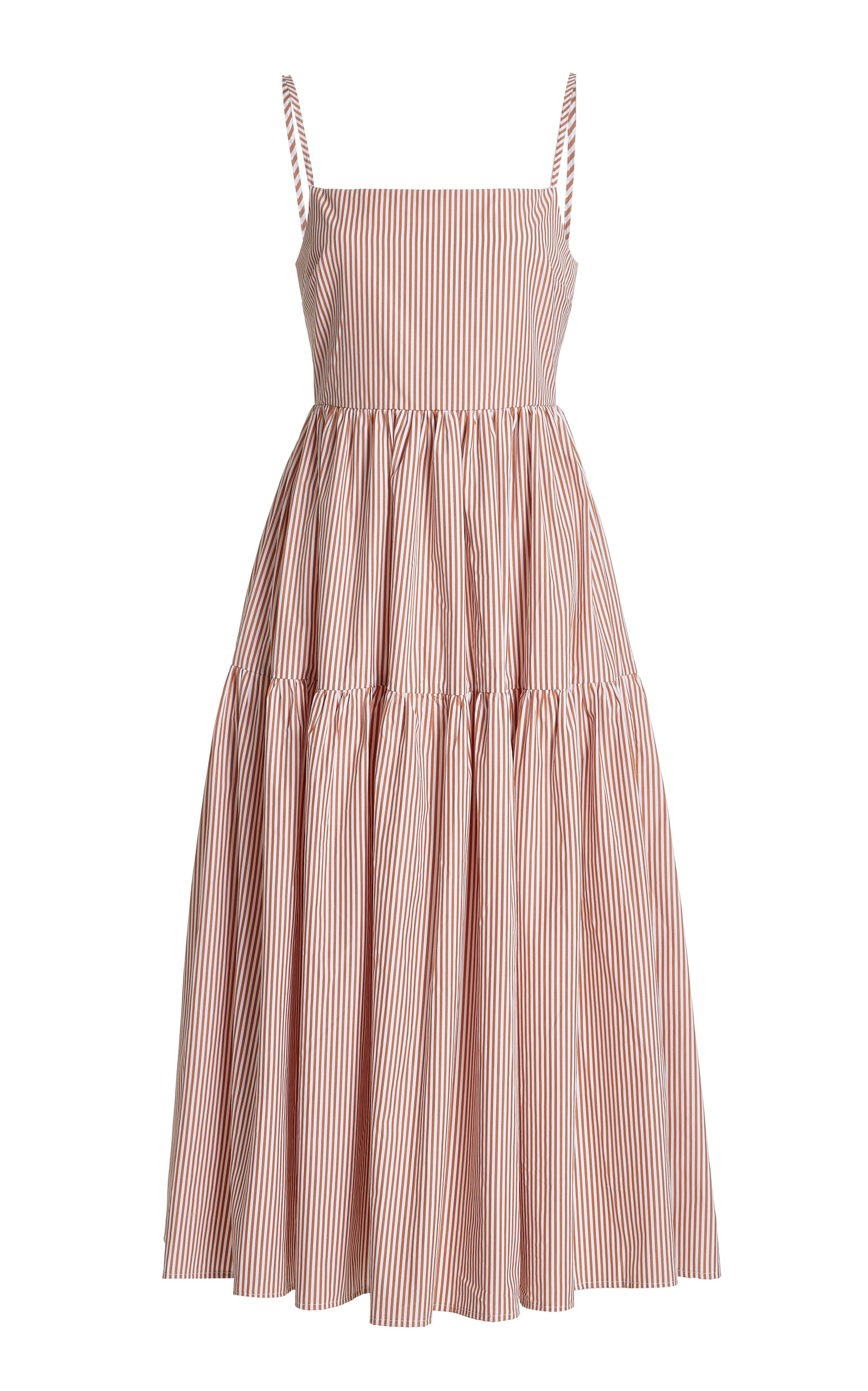 Women's Gioia Striped Cotton Poplin Midi Dress