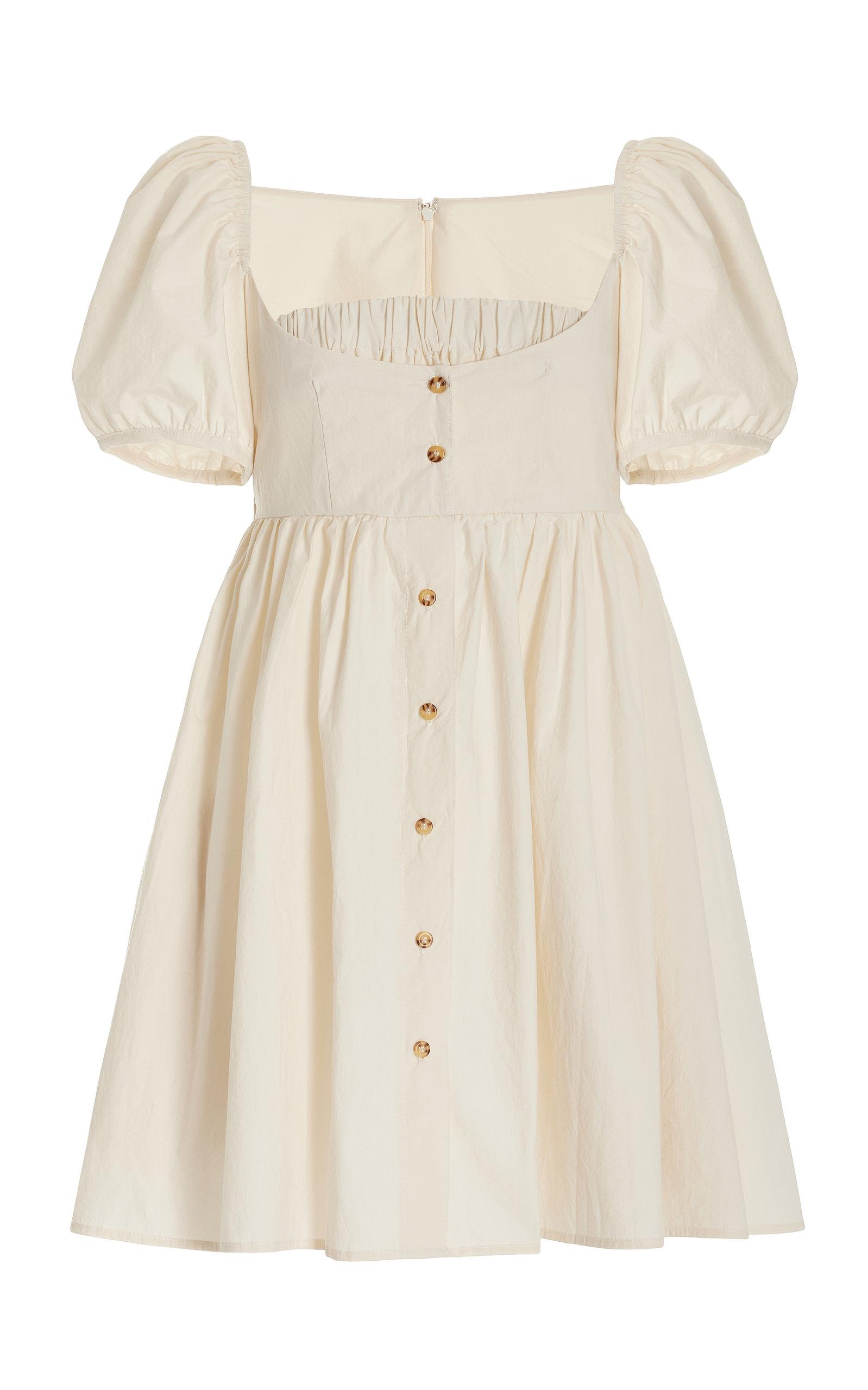 Women's Diana Button-Detailed Cotton Mini Dress
