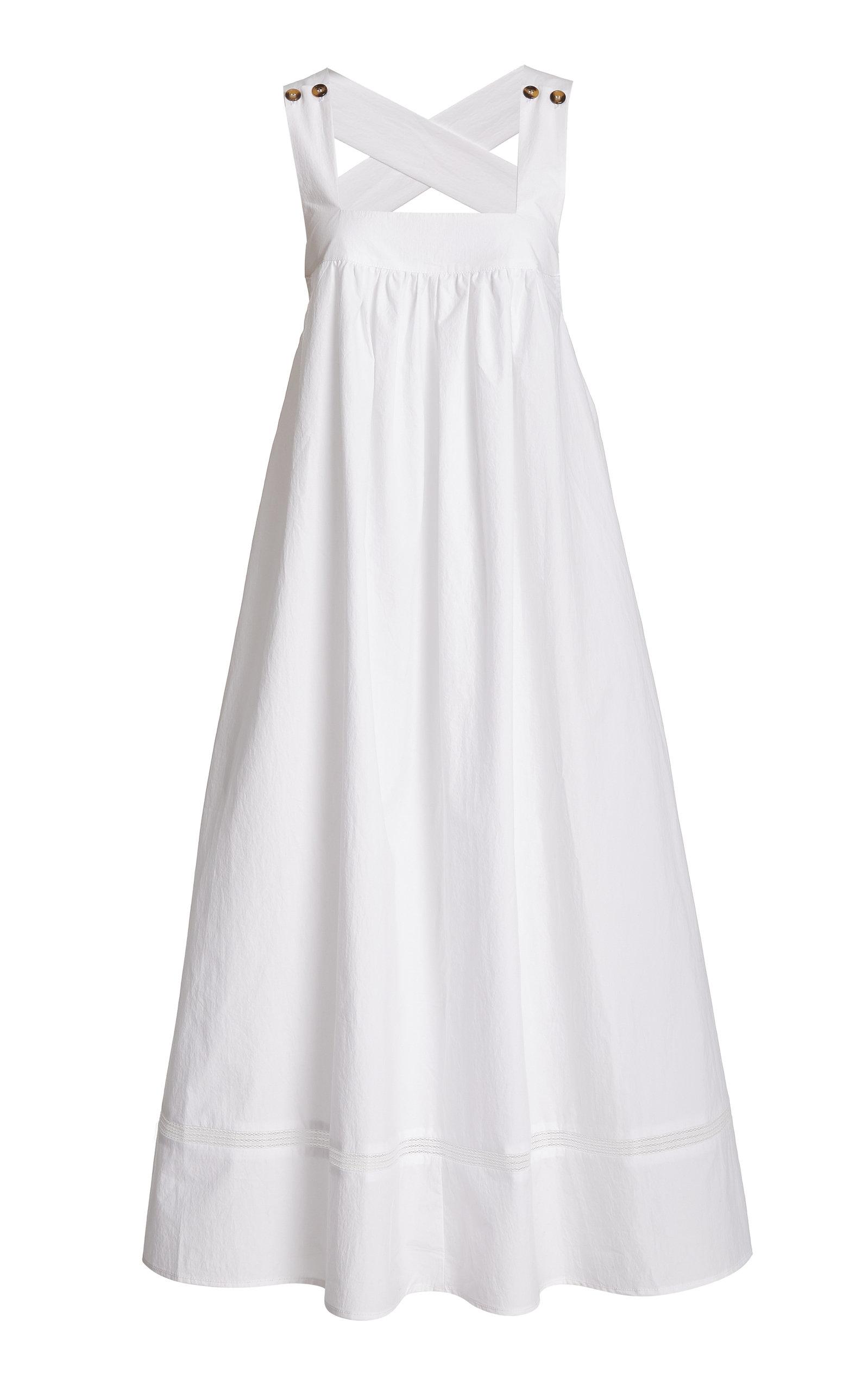 Women's Laura Cotton-Poplin Midi Dress