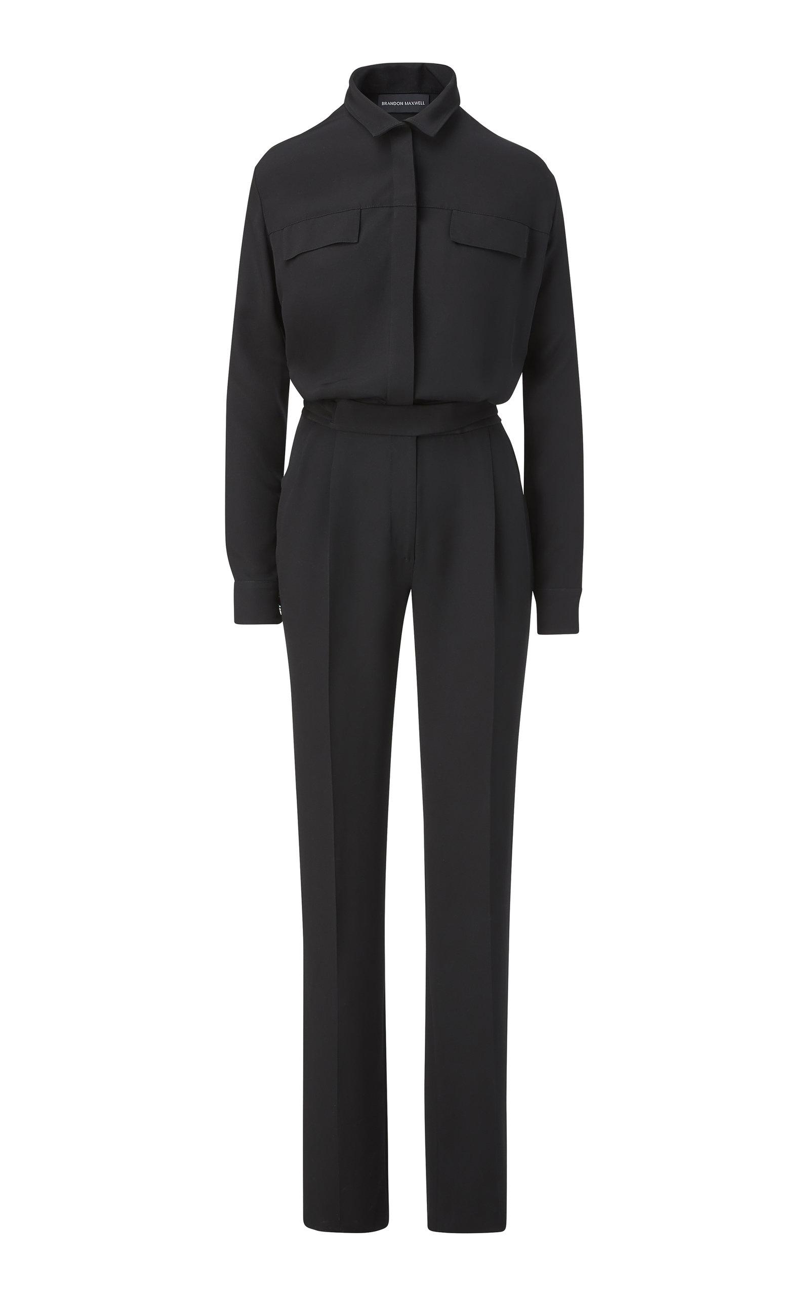 Women's Button-Detailed Silk Jumpsuit