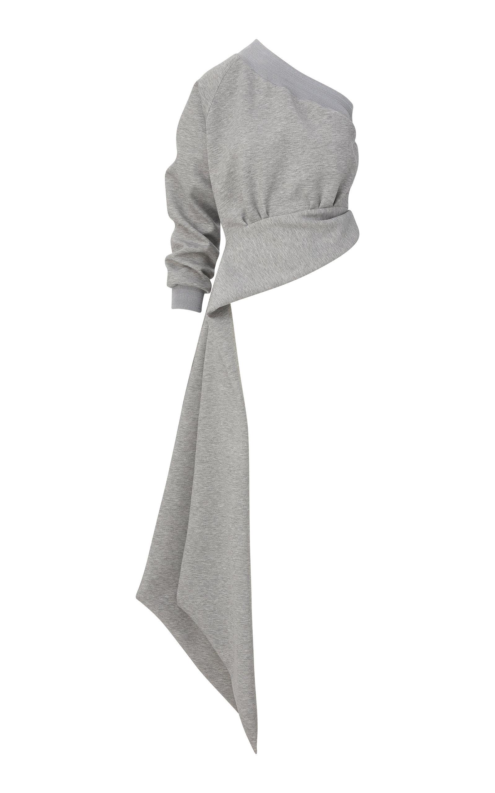 Women's Asymmetric Draped Jersey Top