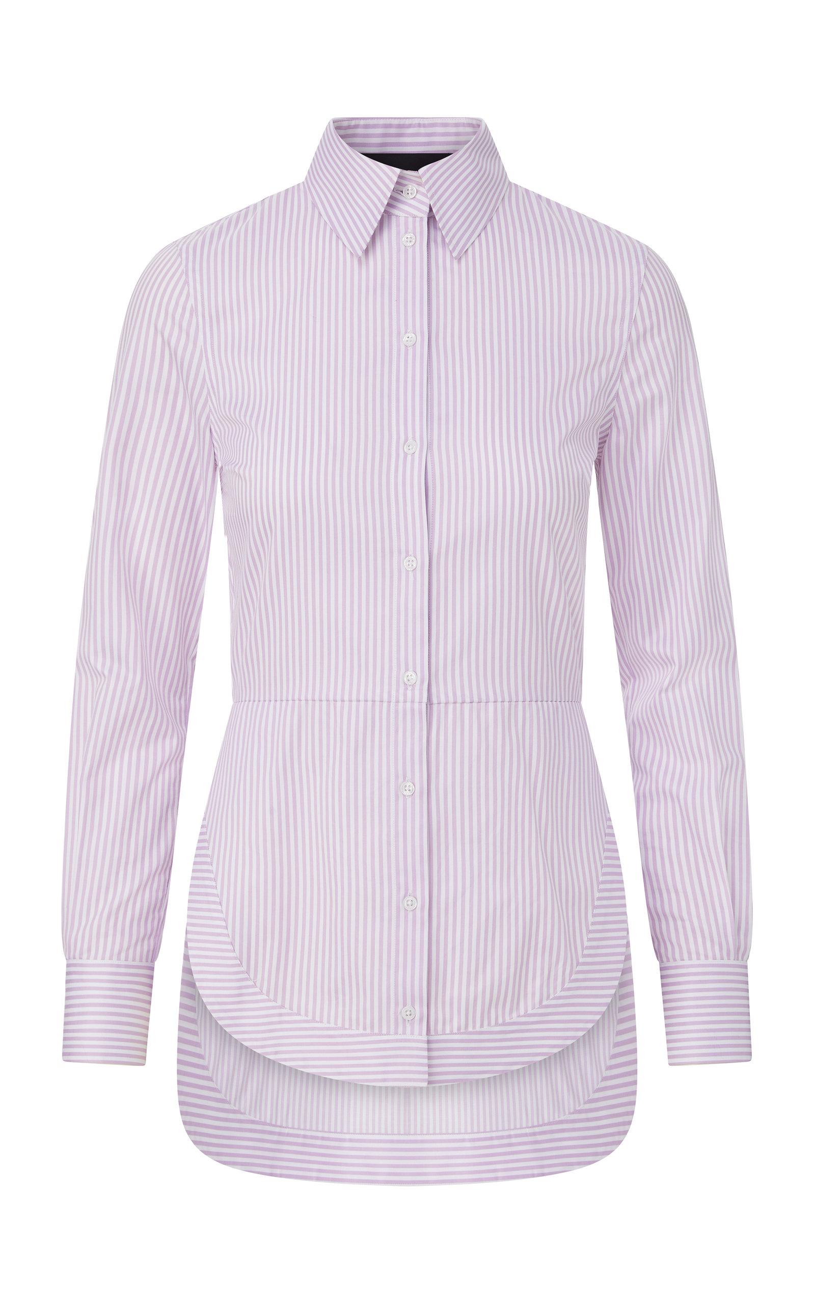Women's Striped Cotton Poplin Shirt