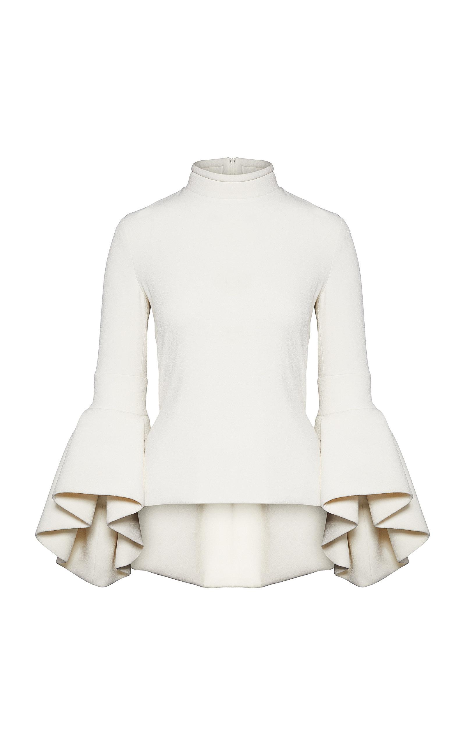 Women's Bell-Sleeve Crepe Top