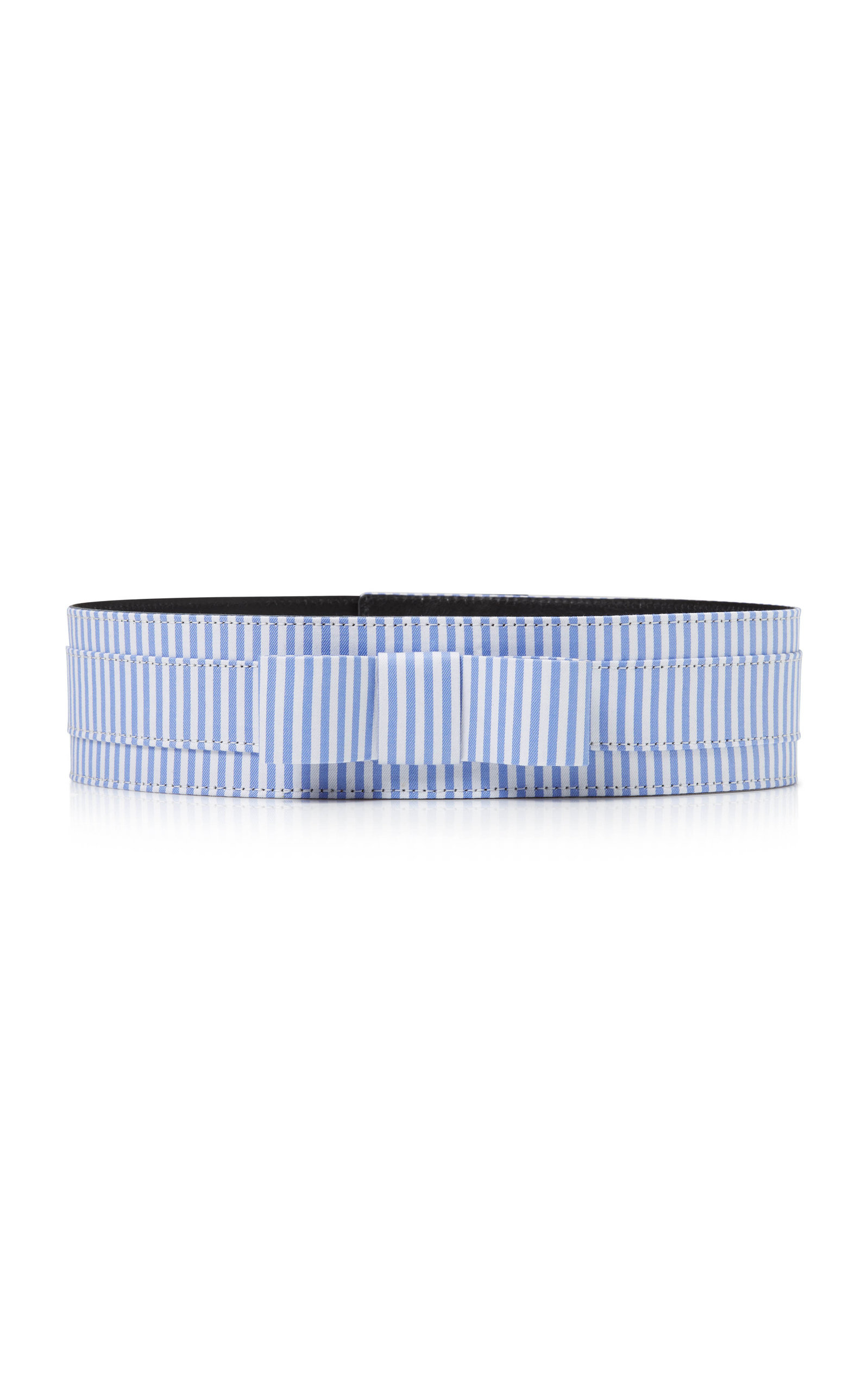 Women's Bow-Accented Striped Cotton Belt