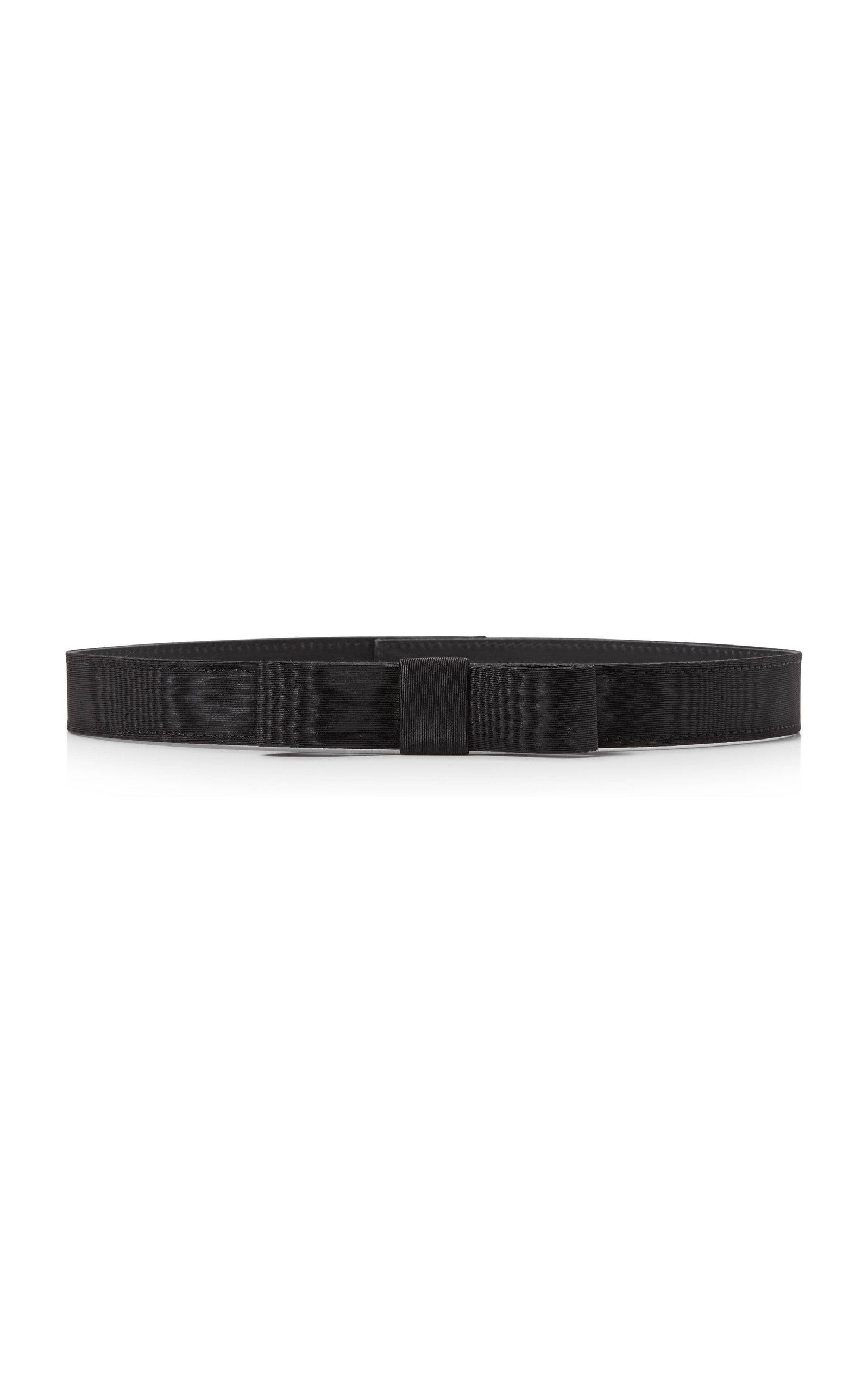 Women's Bow-Accented Moire Skinny Waist Belt