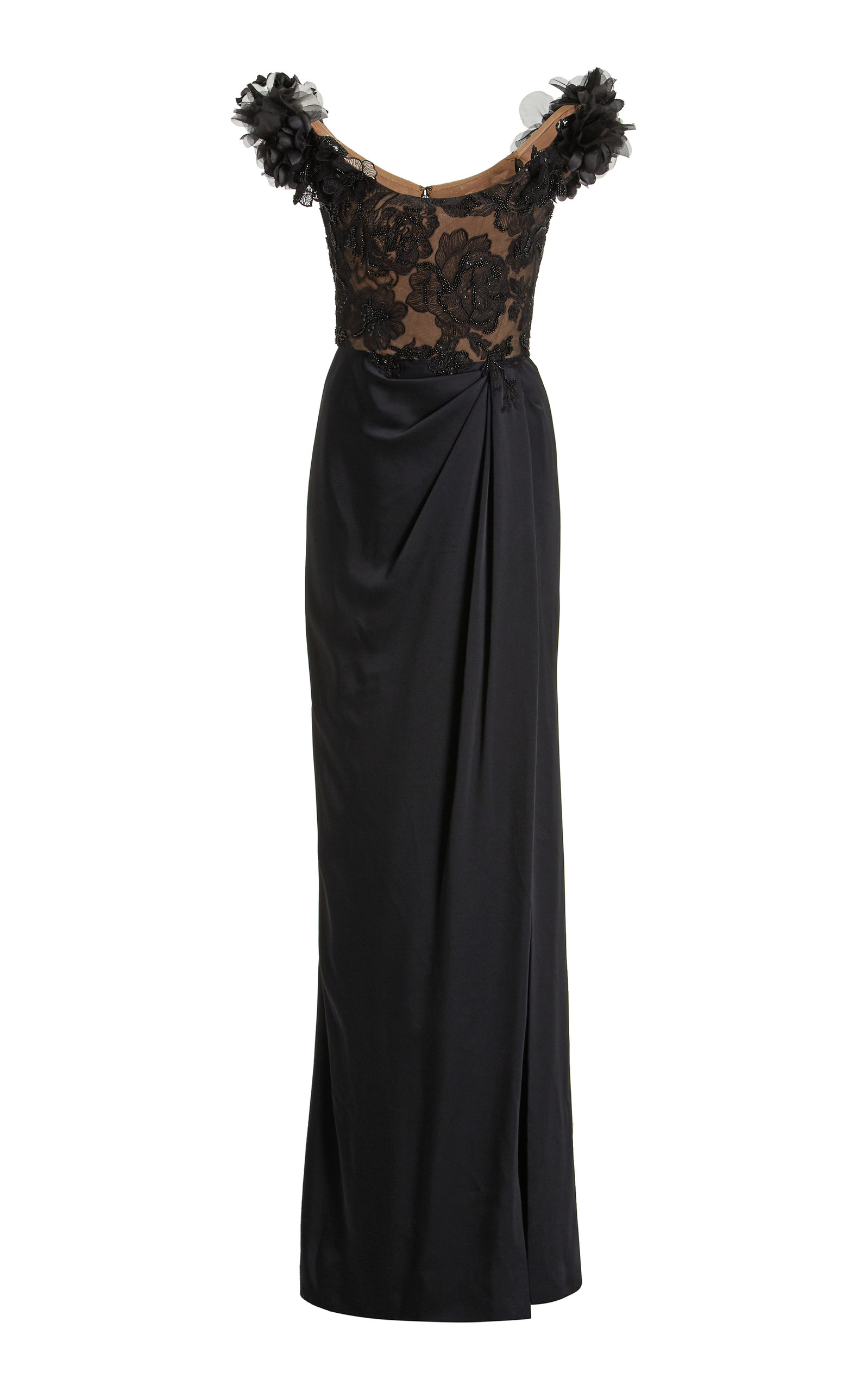 Women's Embellished Off-The-Shoulder Satin Gown