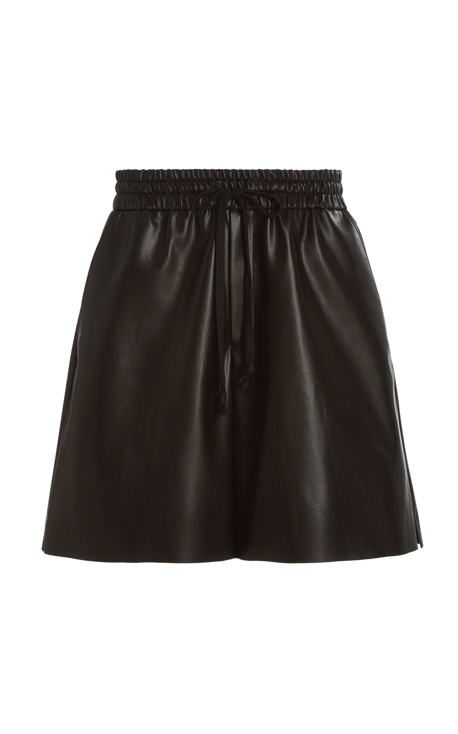 Women's Brooke Faux Leather Knee-Length Shorts