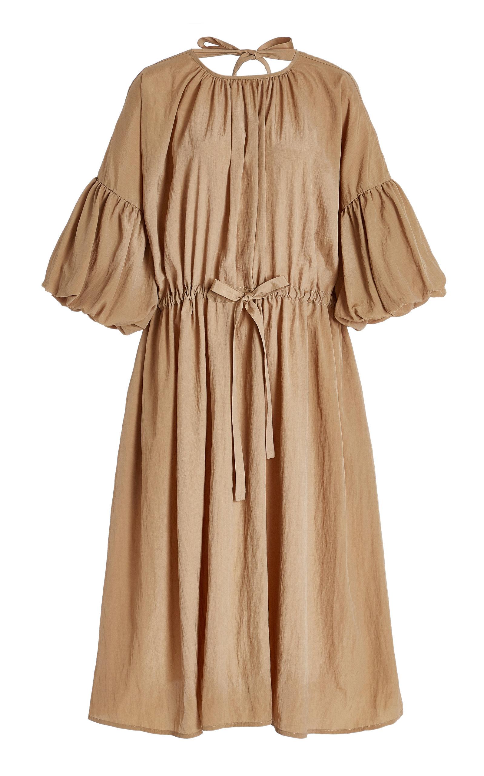 Women's Riley Crinkled Crepe Peasant Dress