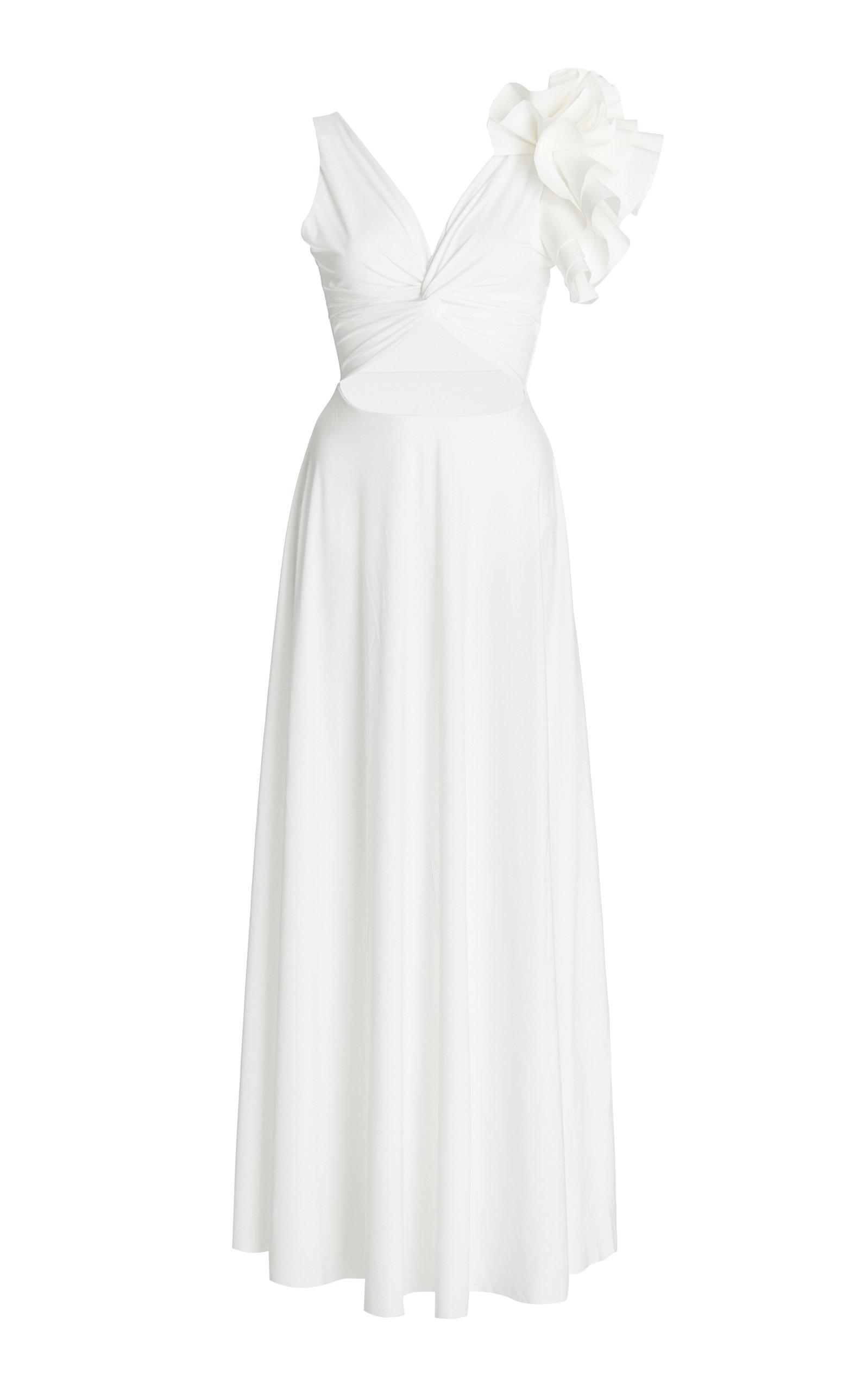 Women's Blanca Reversible Ruffled Cutout Maxi Dress
