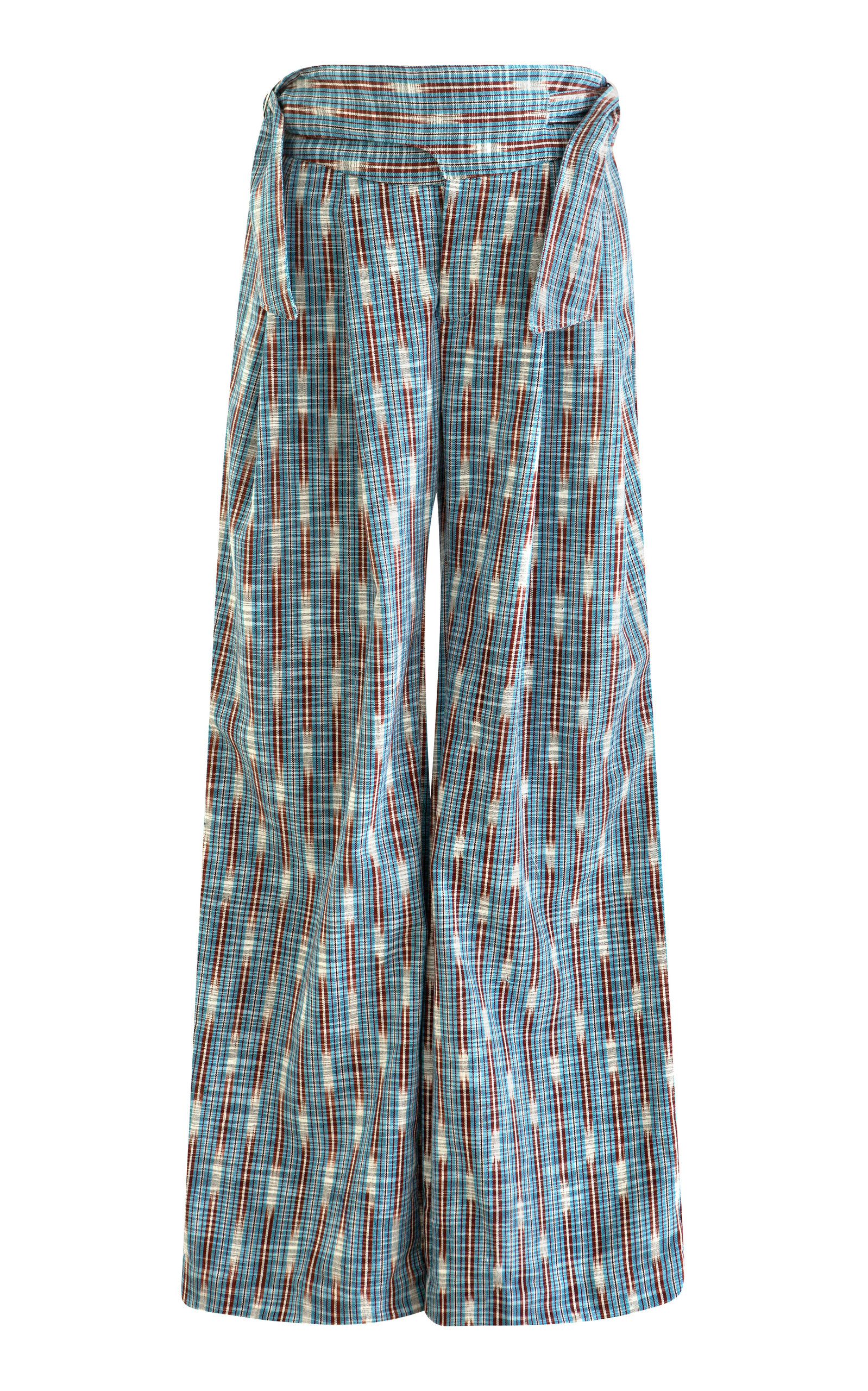 Women's Painter Blue Ikat Pants