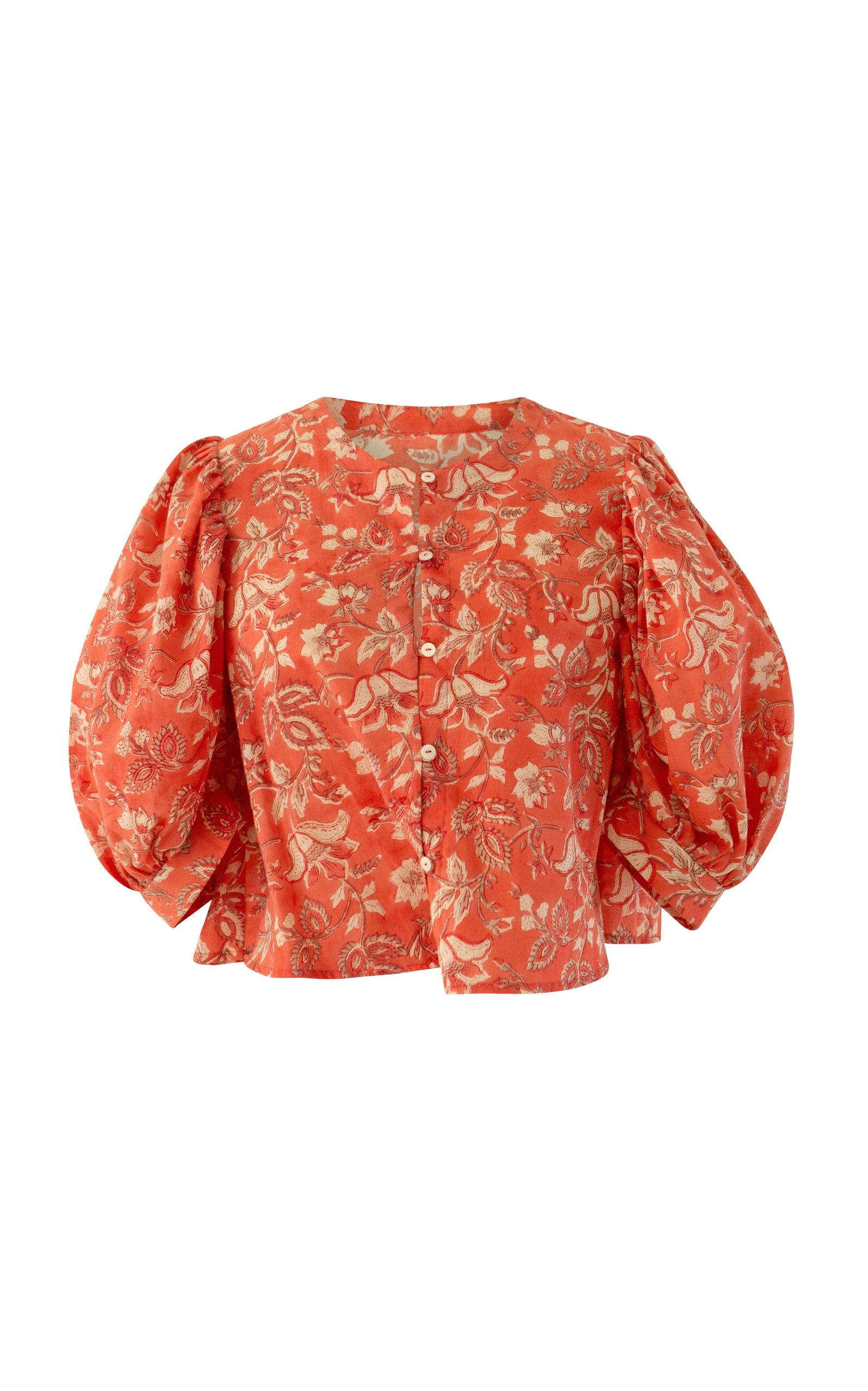 Women's Cerise Flower Top
