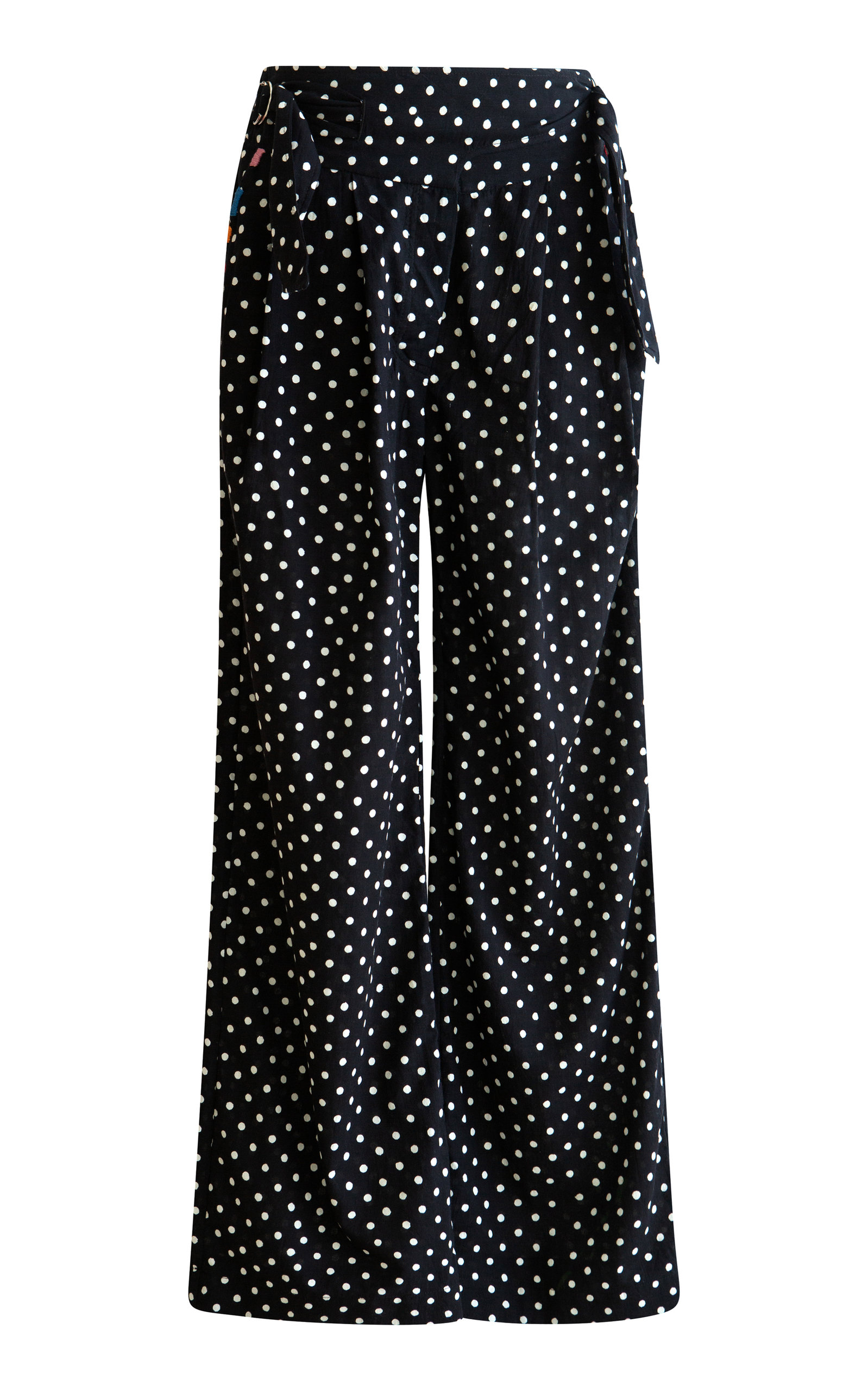 Alix of Bohemia - Women's Painter Dotted Pants - Black/white - Moda Operandi