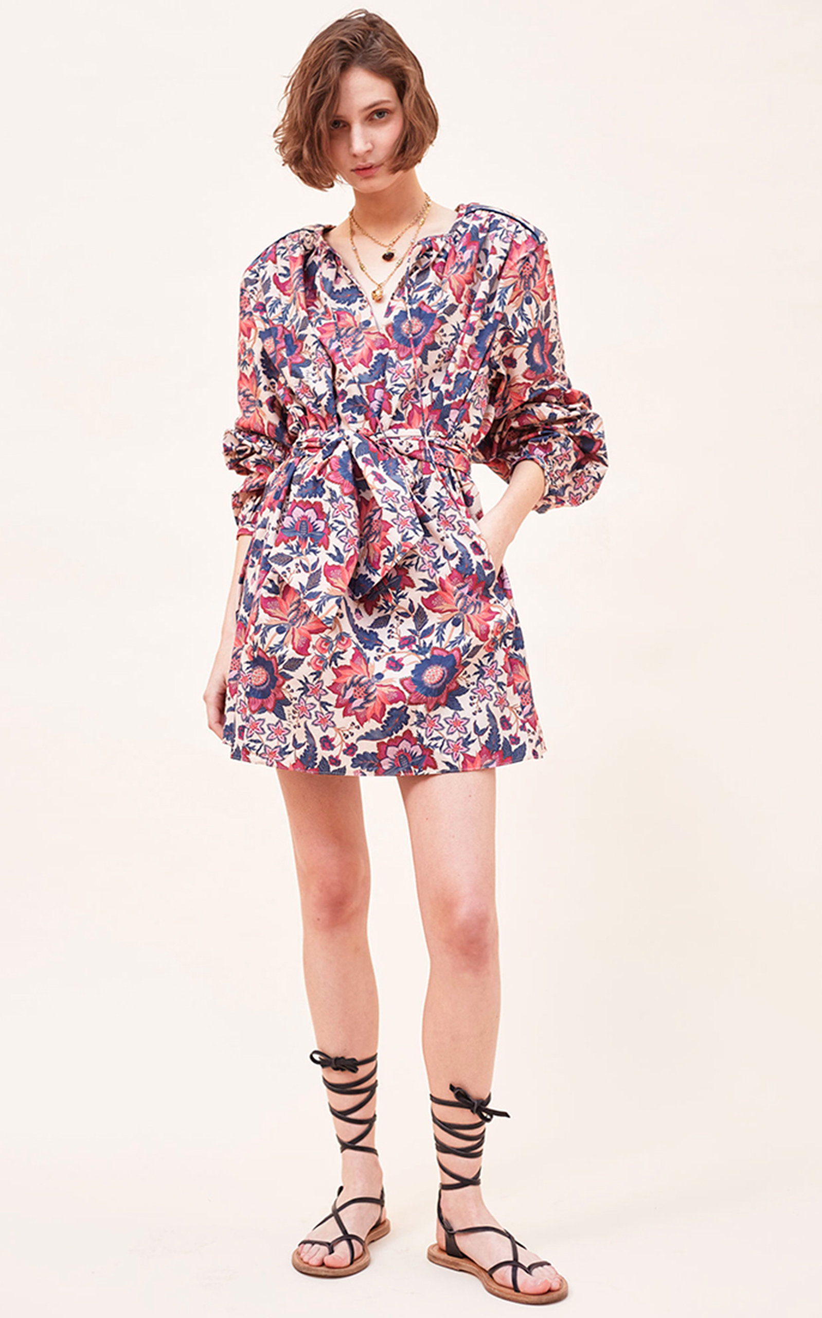 Women's Gabi Organic Cotton Poplin Mini Dress