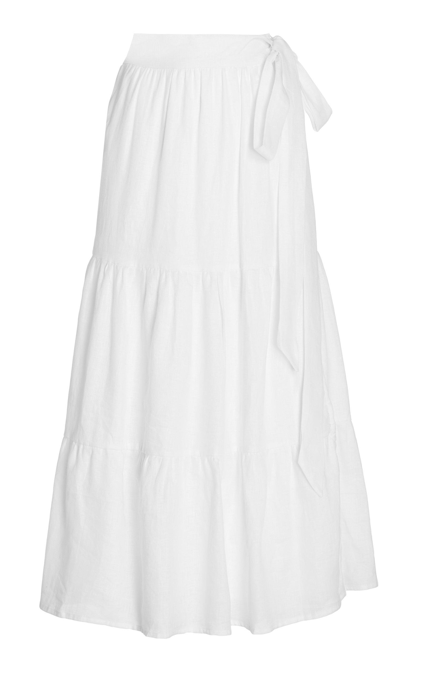 Women's Cavaretta Tiered Linen Maxi Skirt