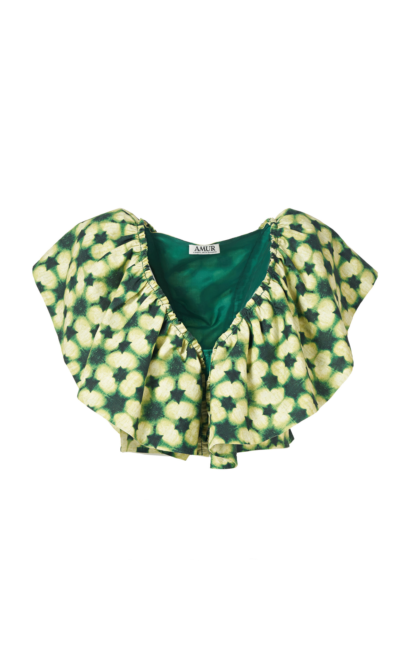 Women's Freta Ruffled Tie-Dye Top