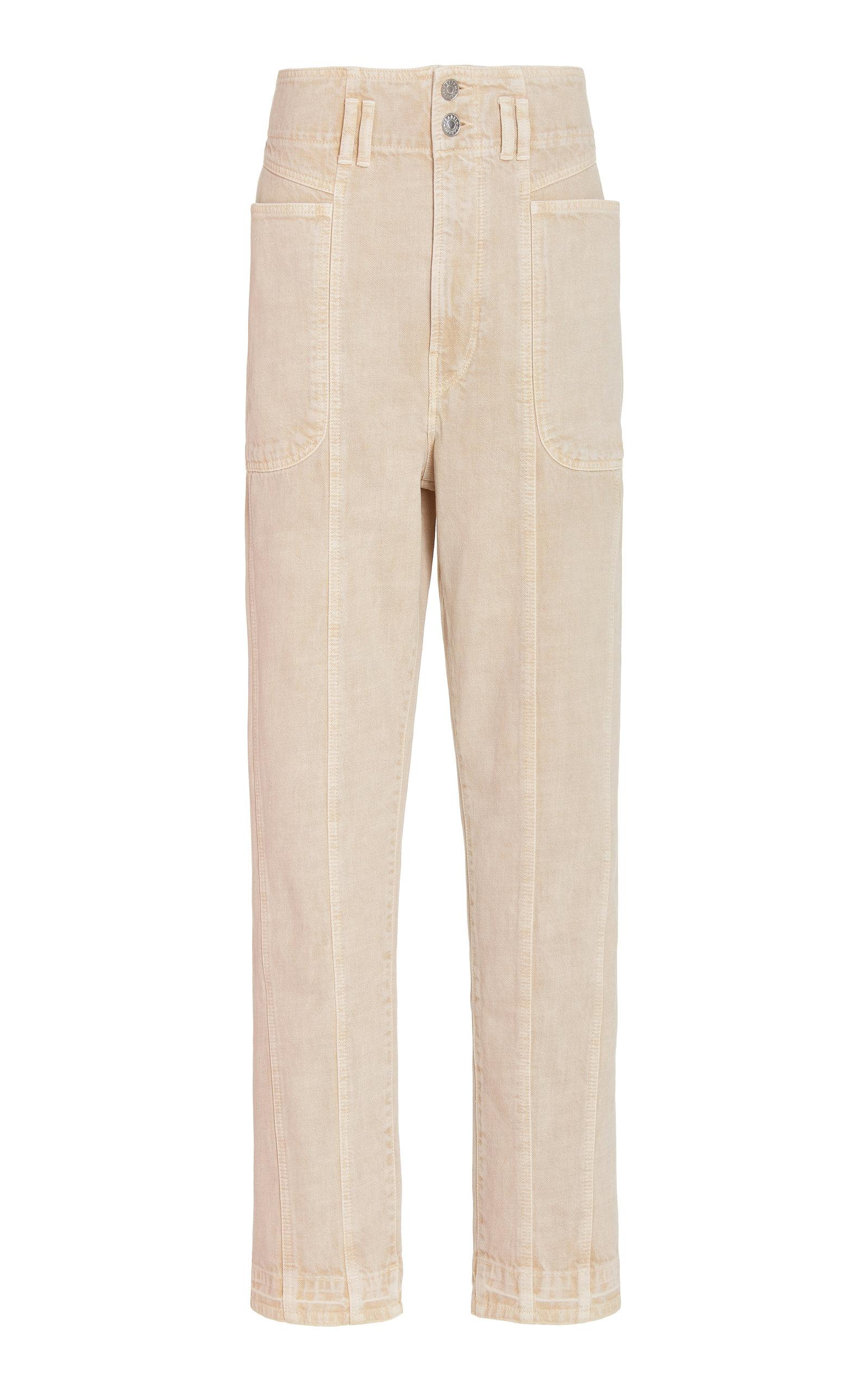 Women's Tess Cotton Straight-Leg Trousers
