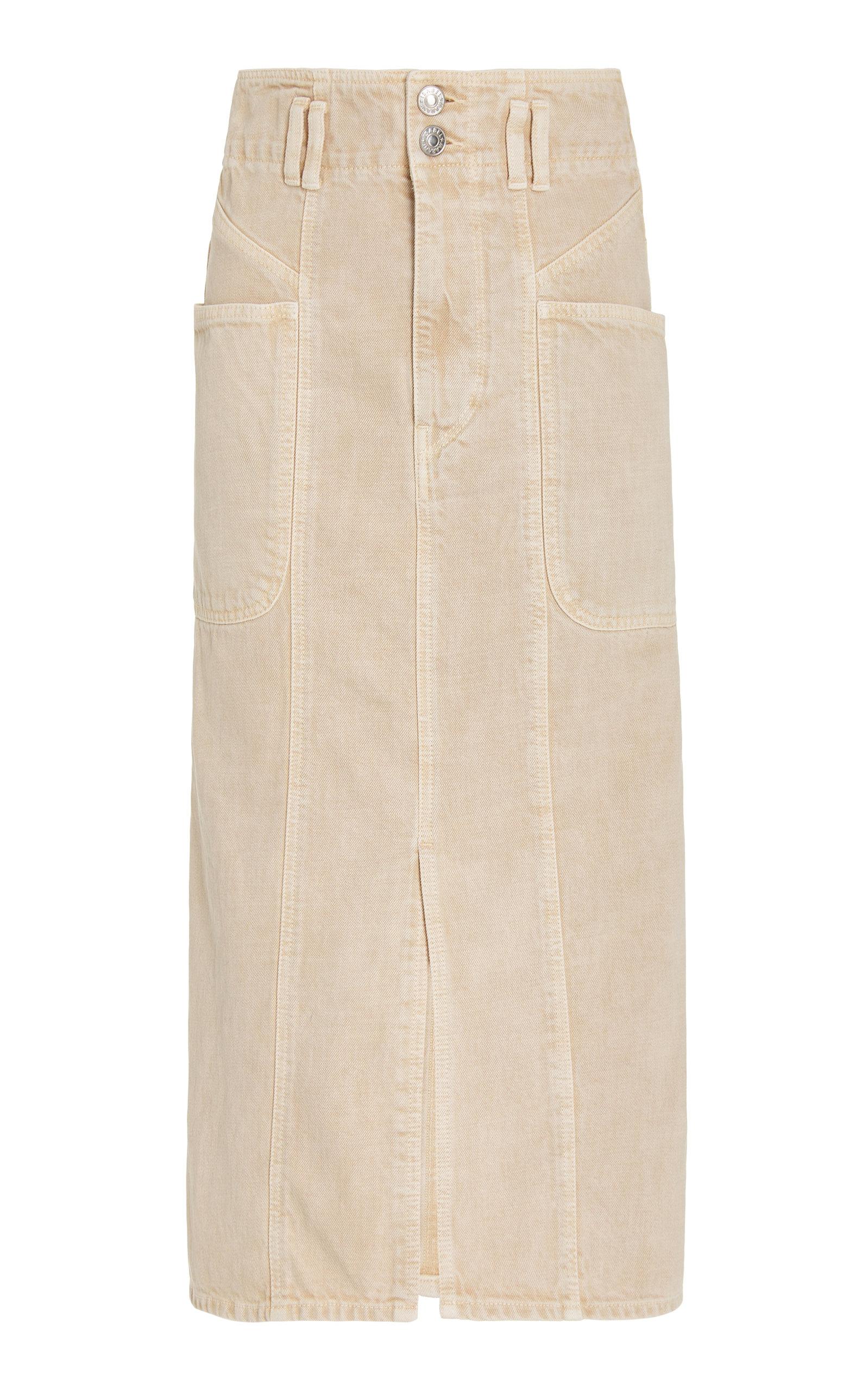 Women's Toria Washed Cotton Midi Skirt