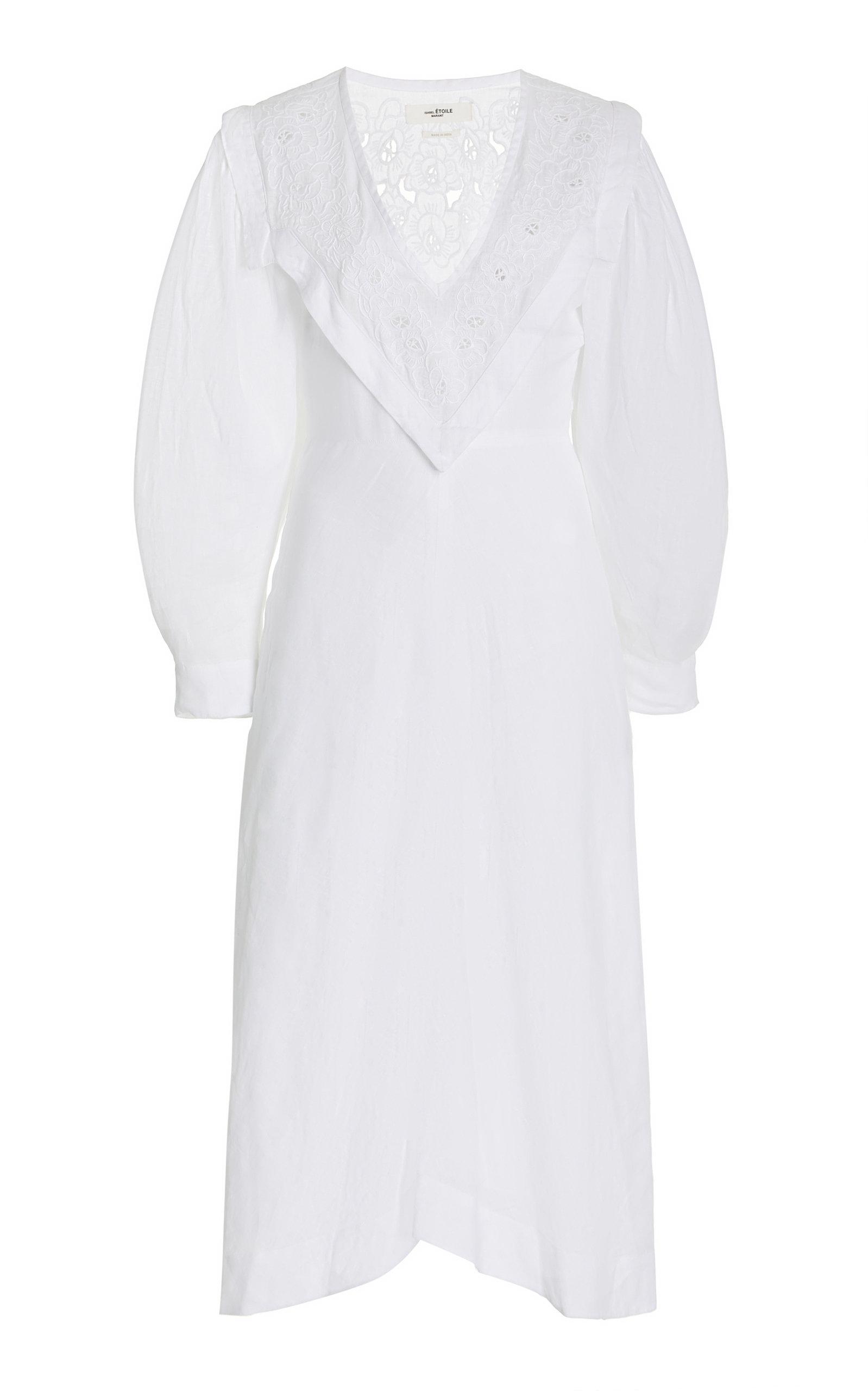 Women's Erna Lace-Detailed Linen Midi Dress