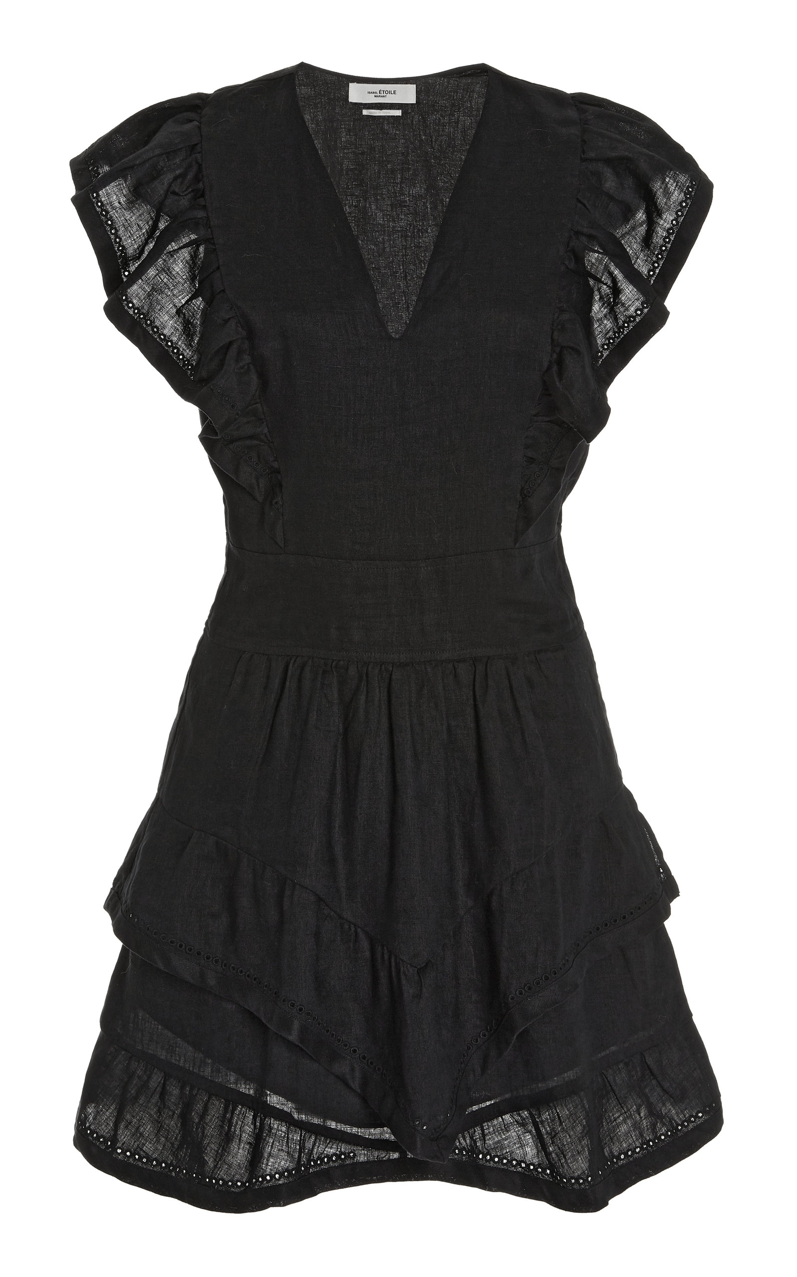 Women's Audreyo Ruffled Linen Mini Dress