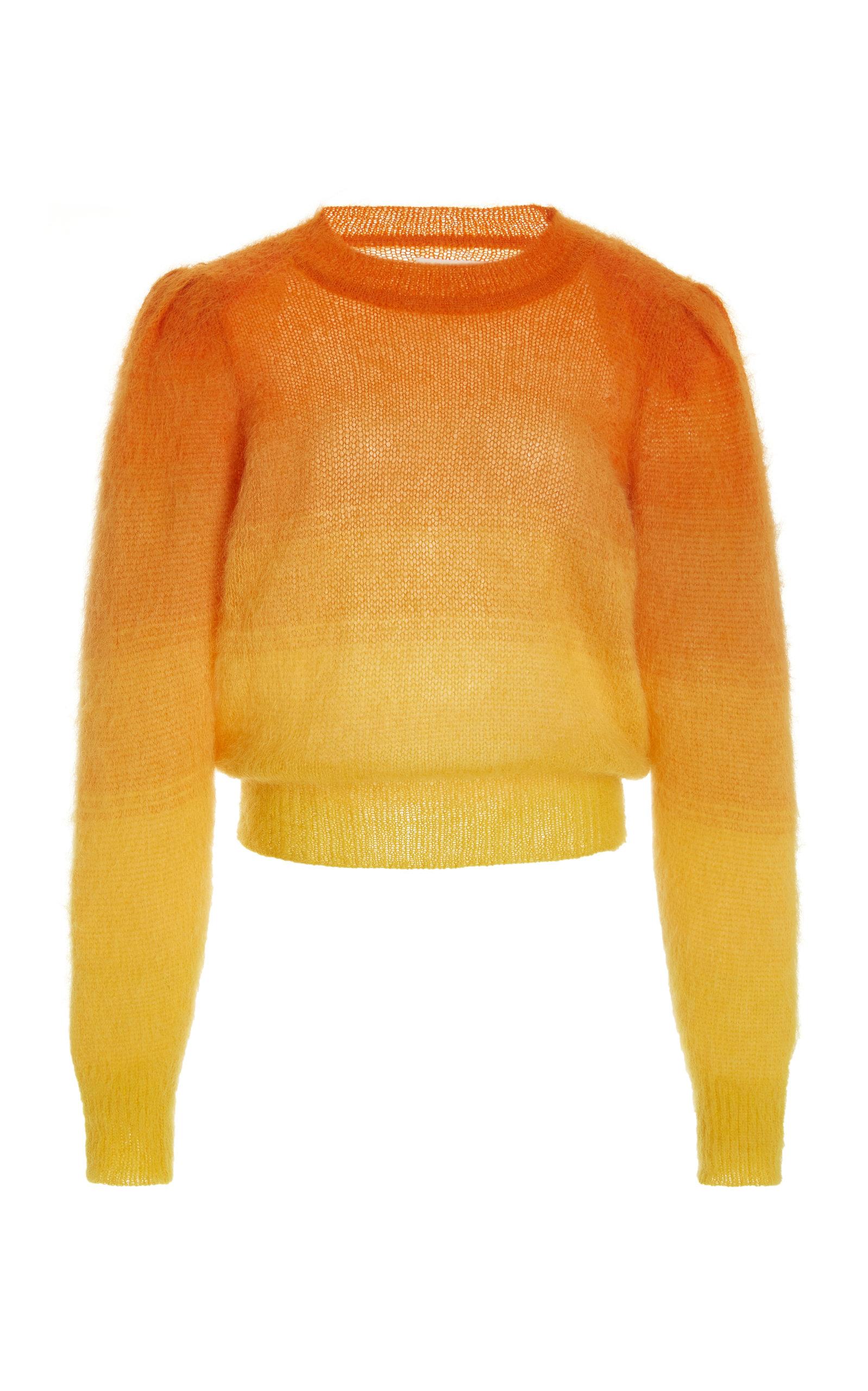 Women's Deniza Puff-Sleeve Ombré Mohair-Blend Sweater