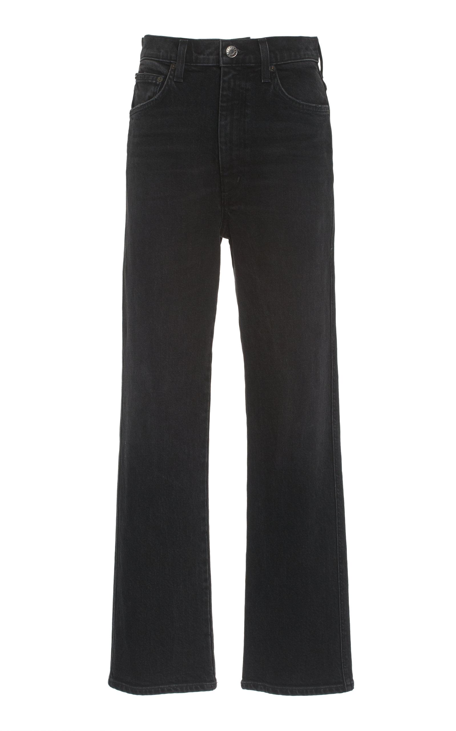 Agolde - Women's Pinch-Waist Stretched Ultra High-Rise Skinny-Leg Jeans - Grey - Moda Operandi