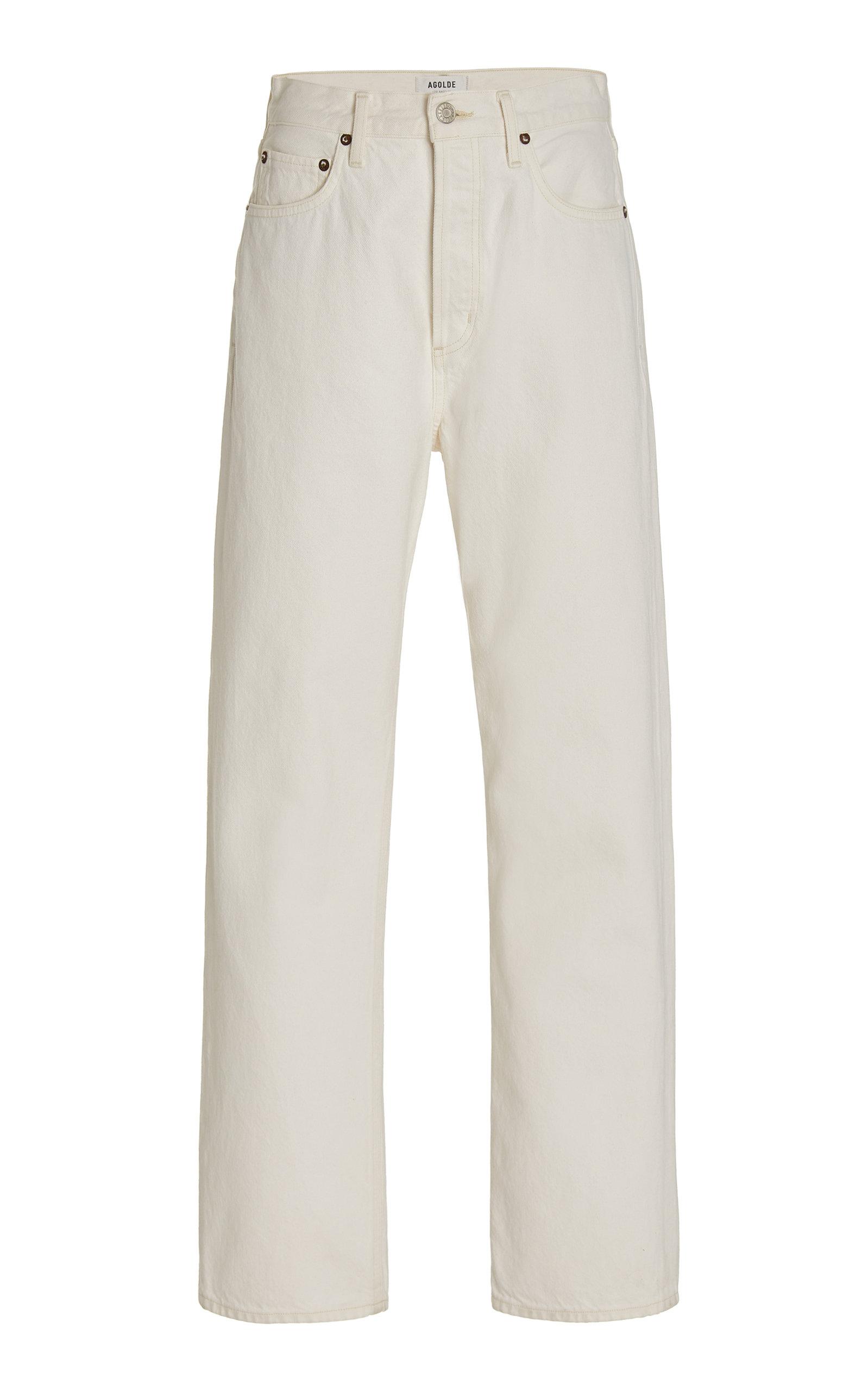 Agolde - Women's 90's Pinch-Waist Rigid High-Rise Straight-Leg Jeans - White - Moda Operandi