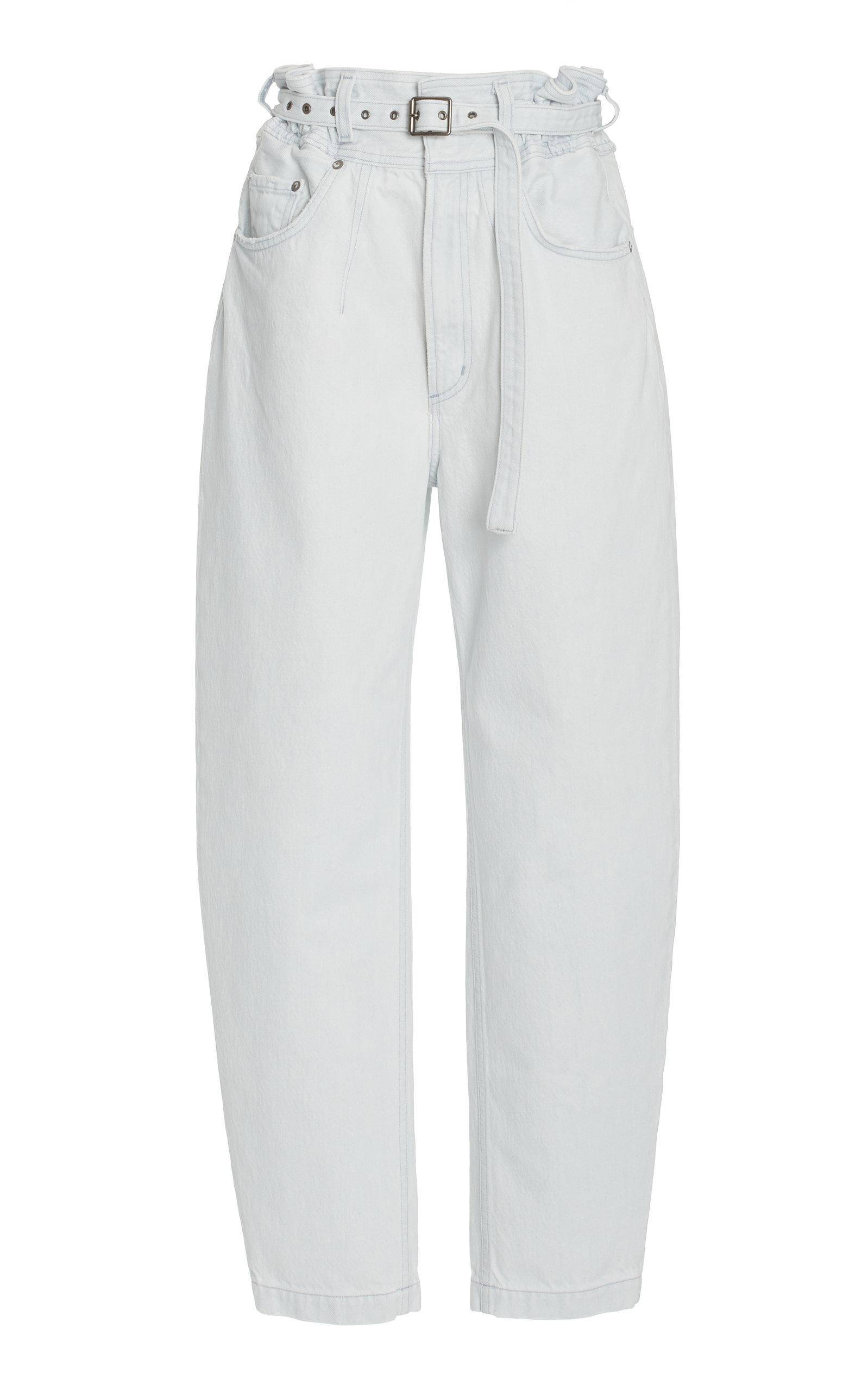 Agolde - Women's Riya Elasticated Peg Rigid Tapered Jeans - Light Wash - Moda Operandi