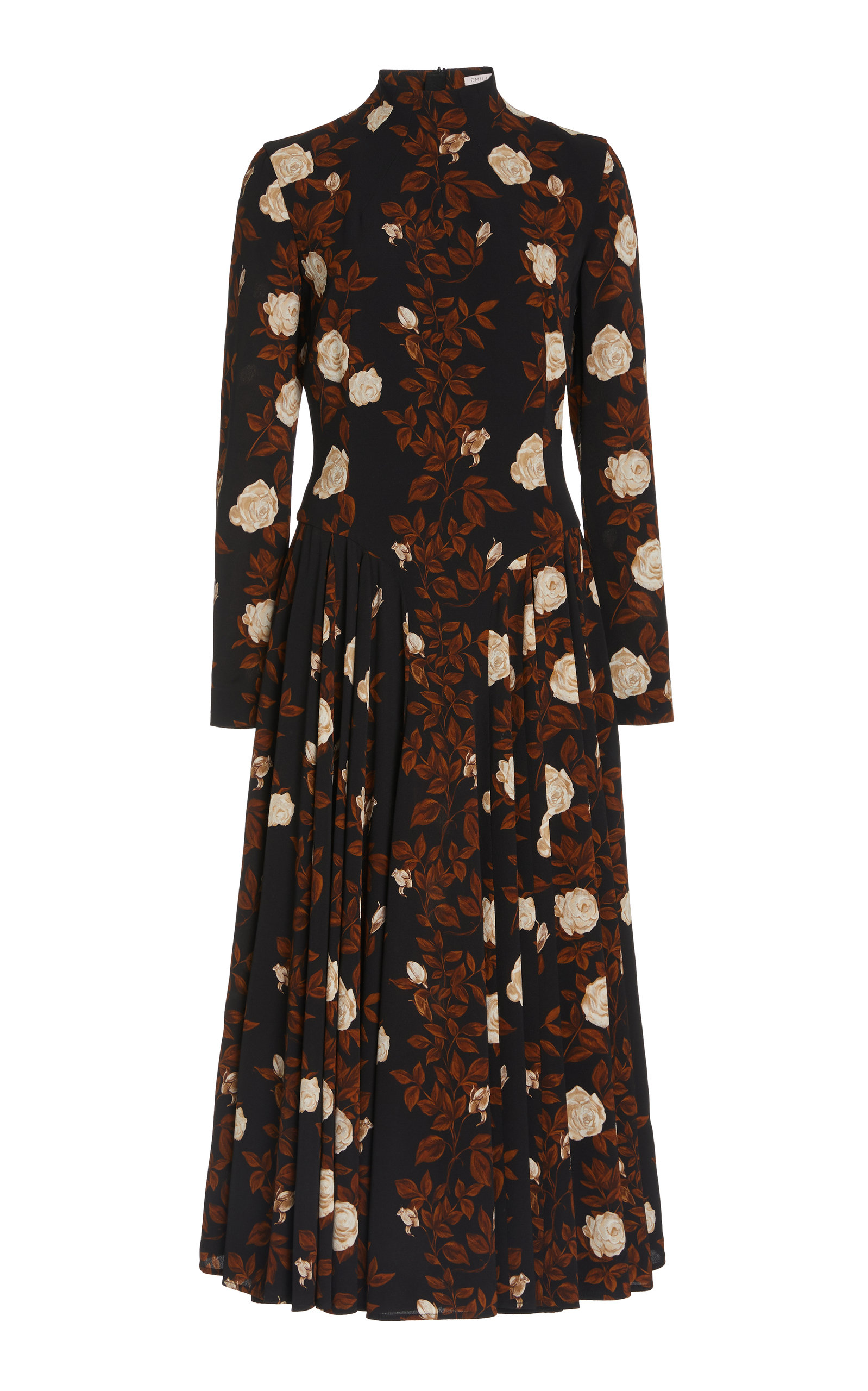 Women's Nelly Floral Crepe Georgette A-Line Dress