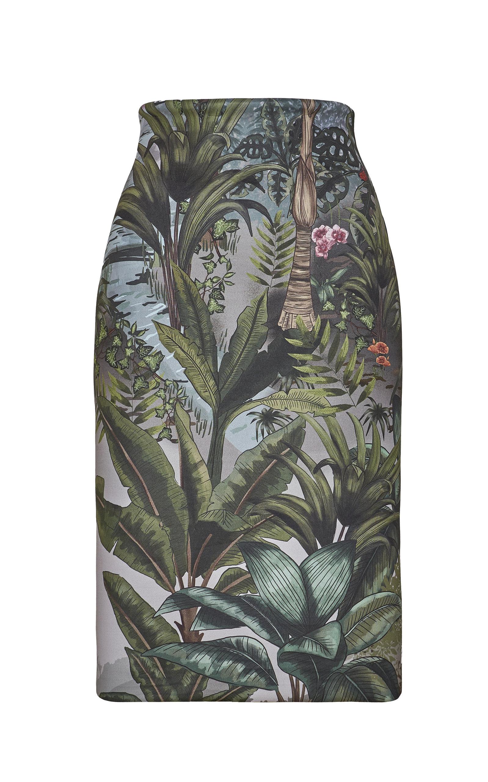 Women's Habitat Printed Crepe Pencil Skirt