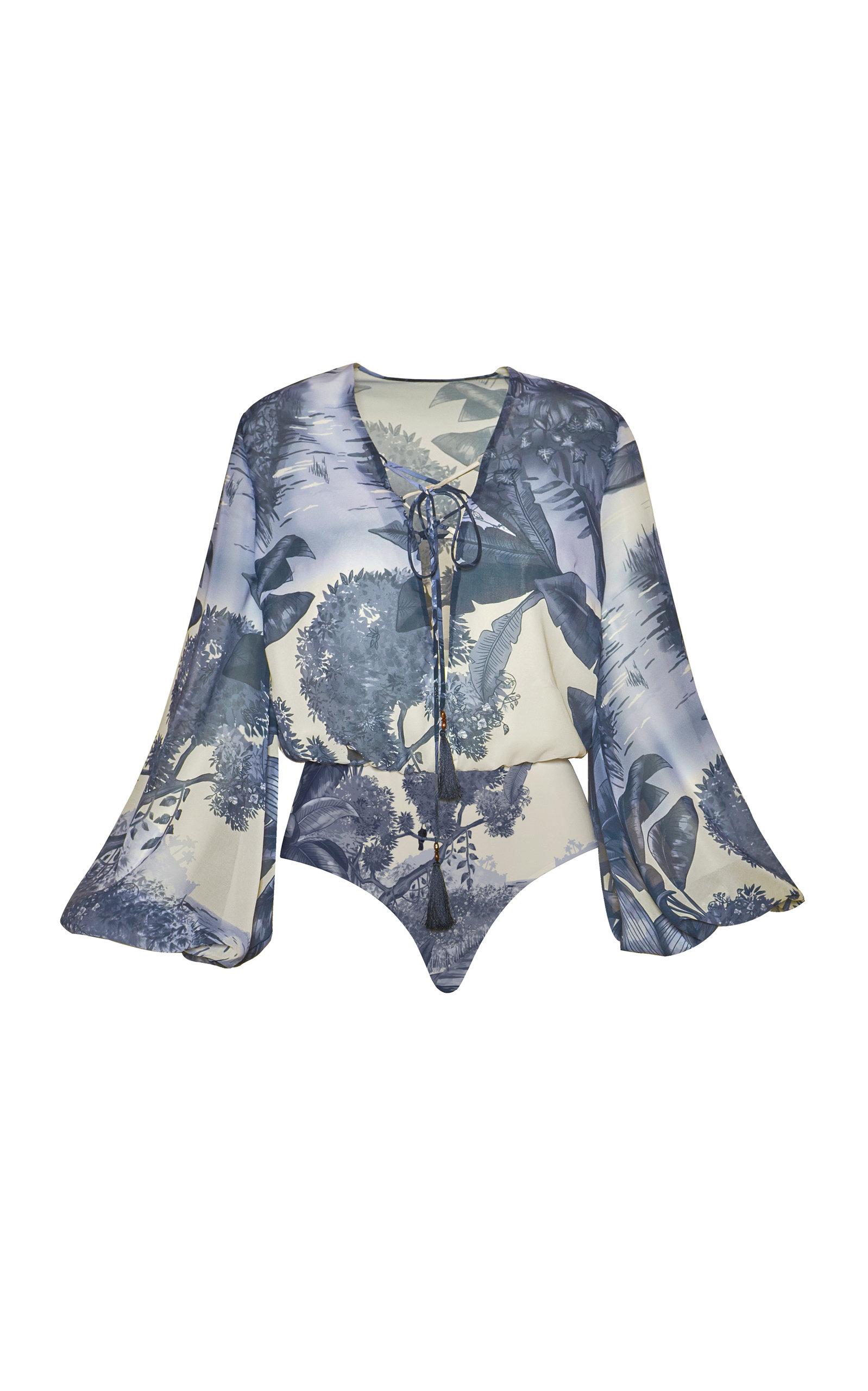 Women's Tamarino Printed Chiffon Bodysuit