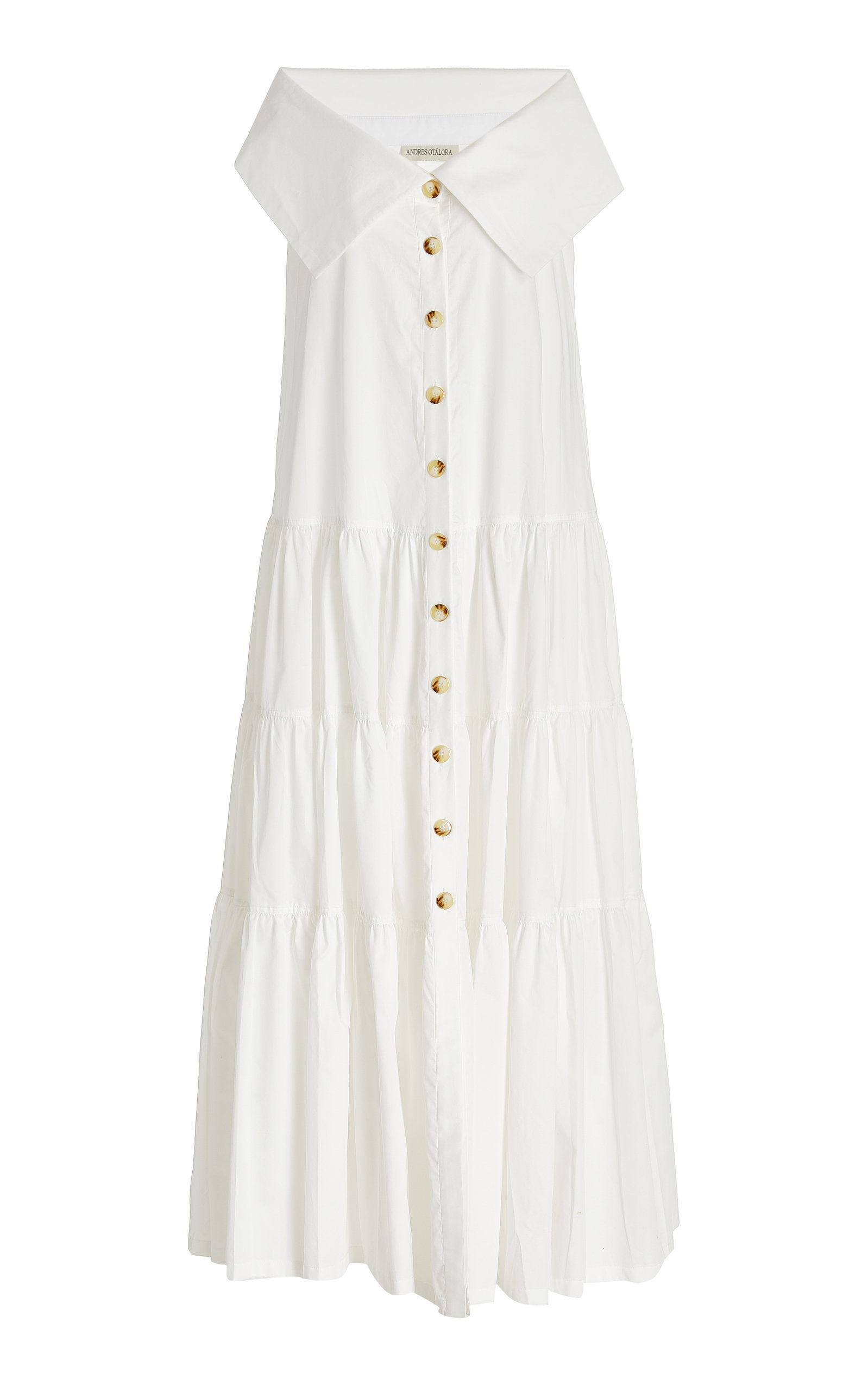 Women's Totora Tiered Cotton Off-The-Shoulder Maxi Dress