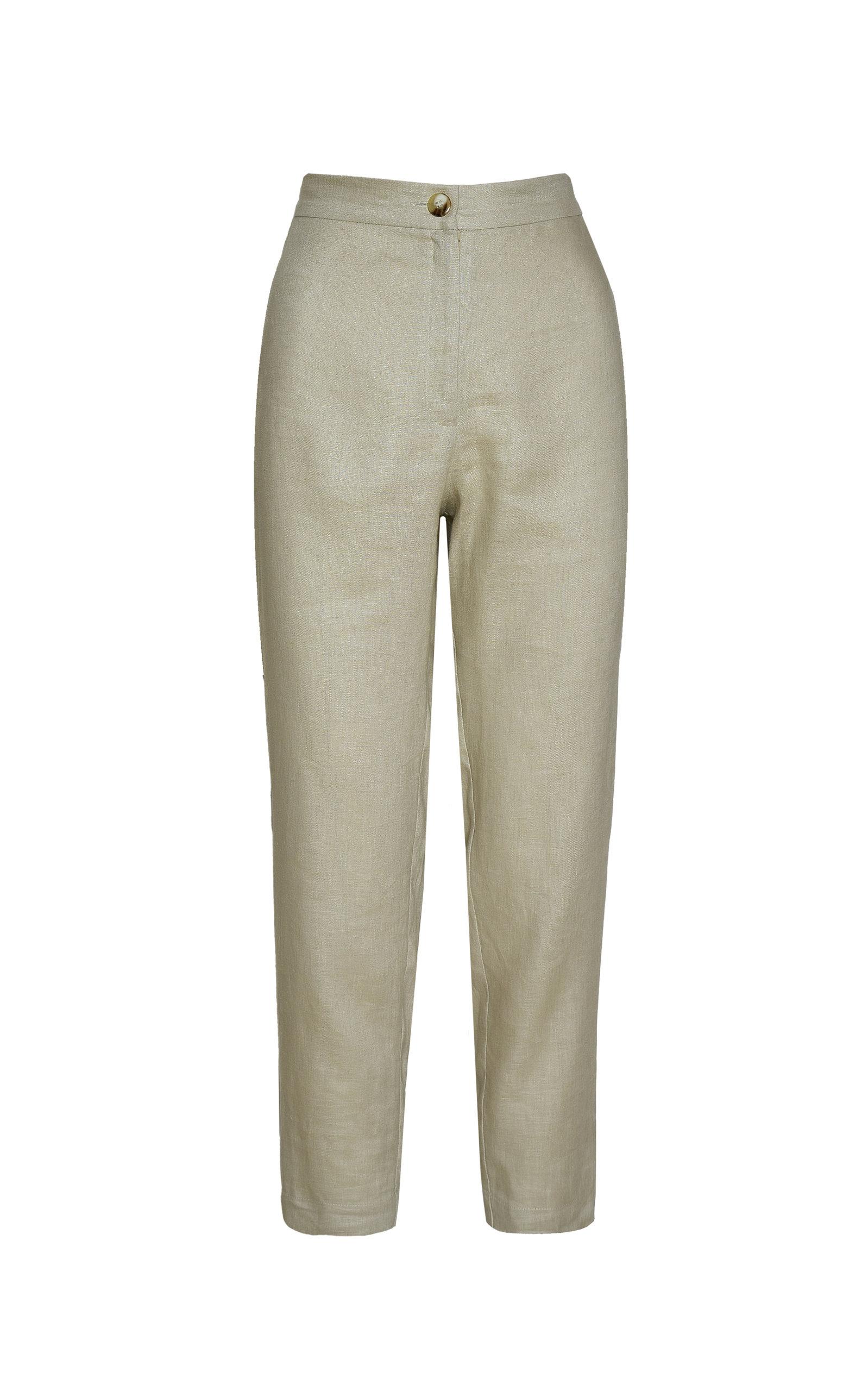 Women's Isla Slim-Fit Linen Pants