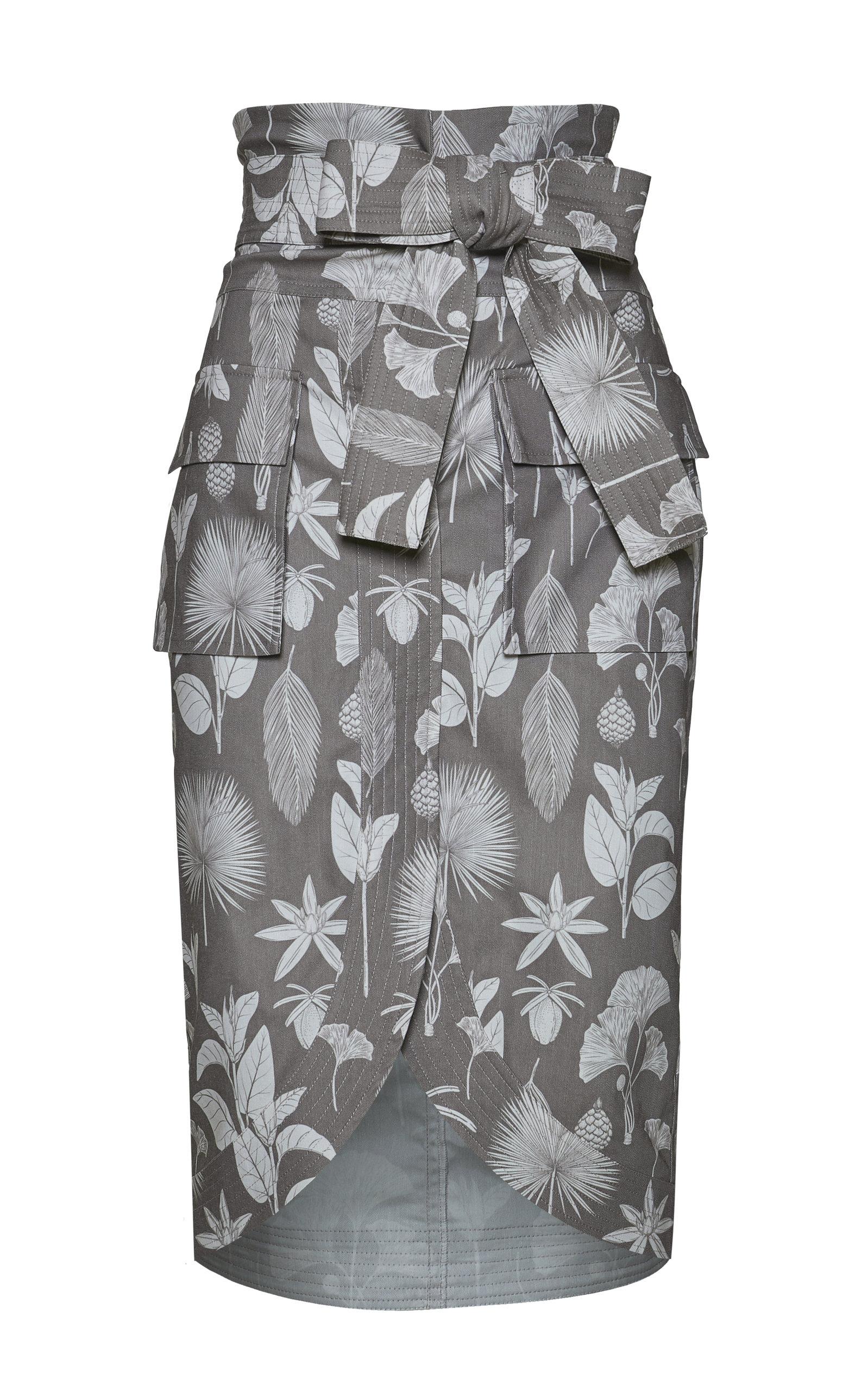 Women's Harpia Printed Cotton Pencil Skirt