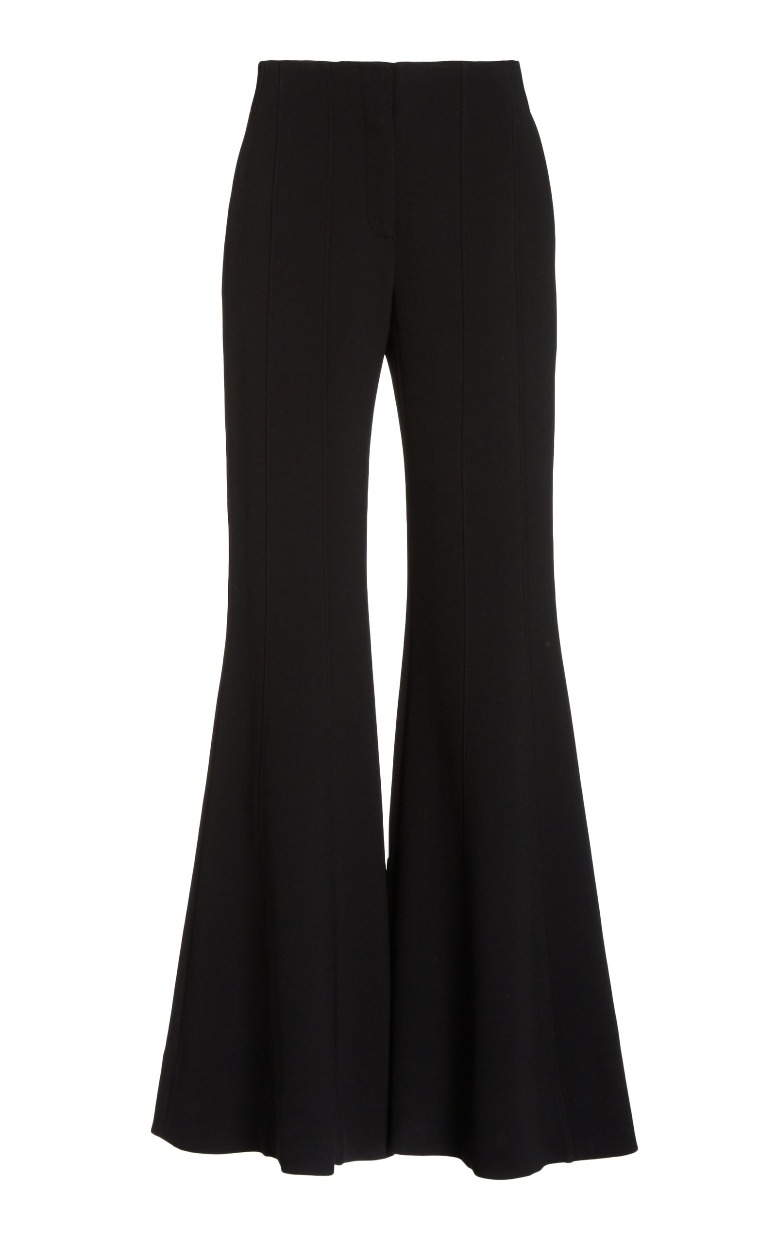 Proenza Schouler Textured Suiting Flared Pants In Black