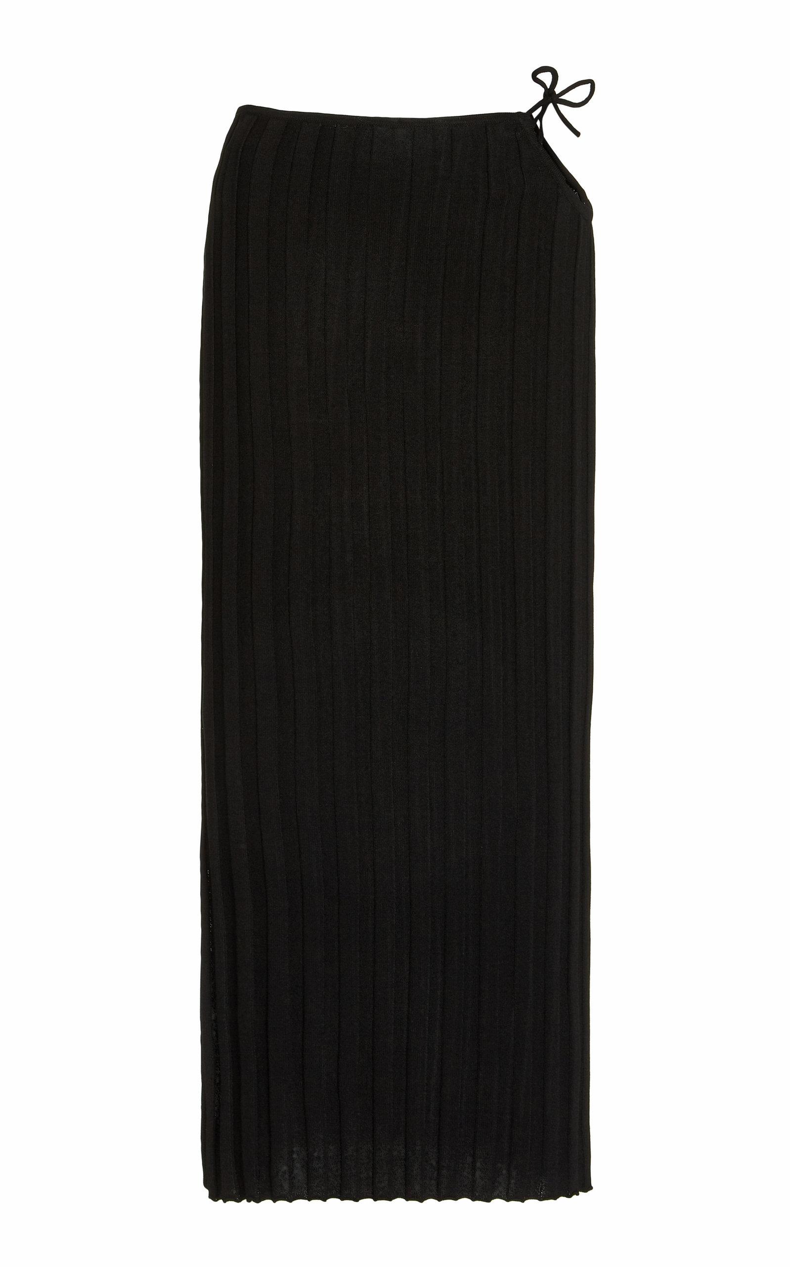 Women's Emerald Cutout Ribbed-Knit Midi Skirt