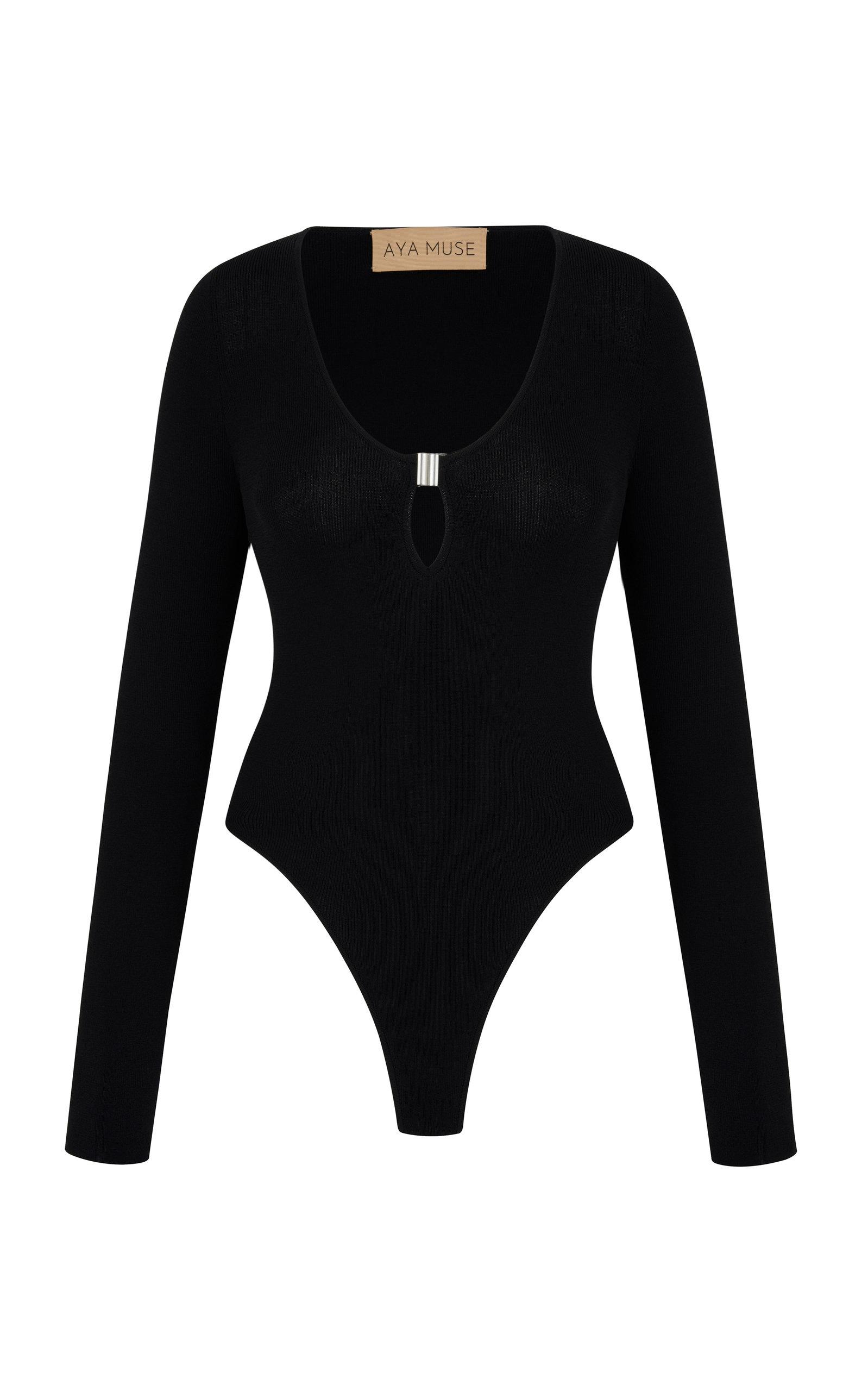 Women's Sapphire Cutout Ribbed-Knit Bodysuit