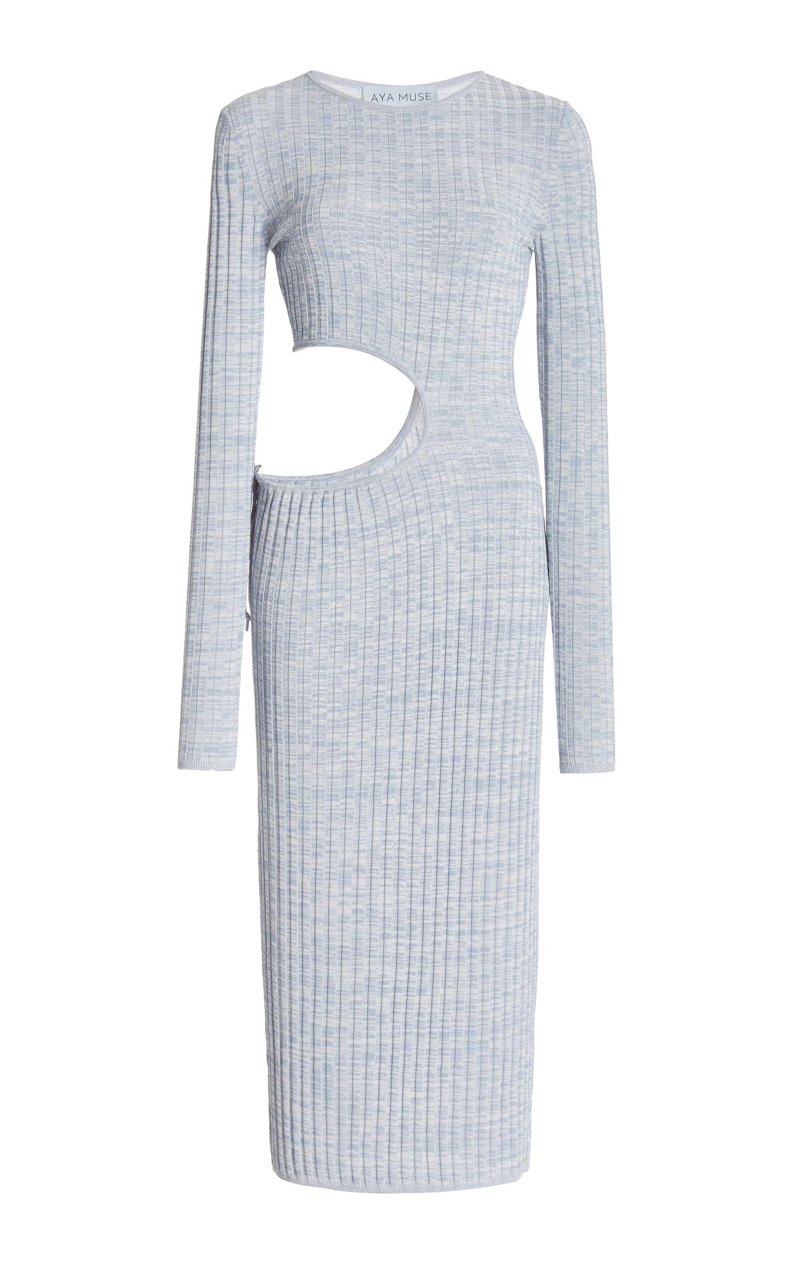 Women's Shale Cutout Ribbed-Knit Midi Dress