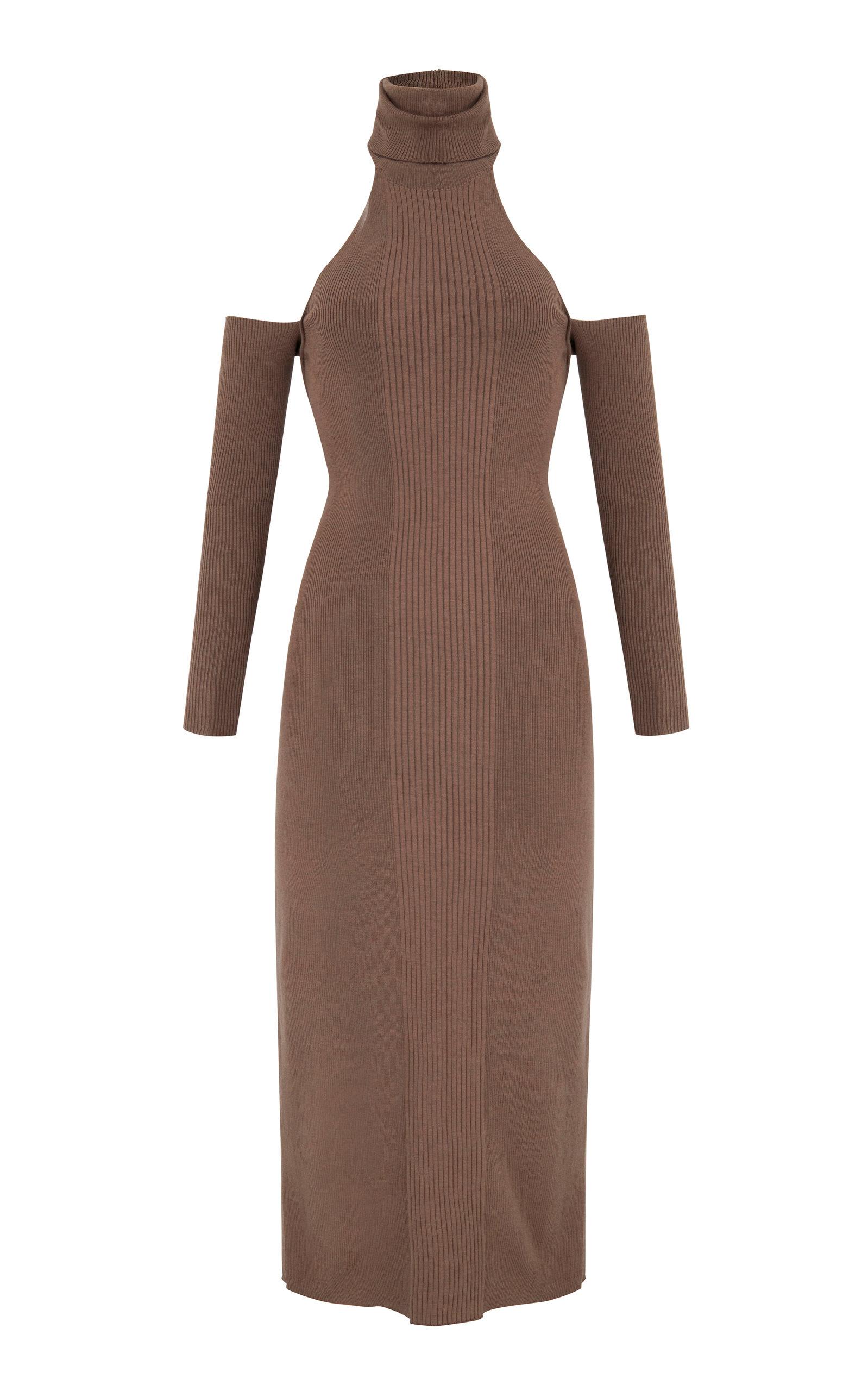 Women's Loma Cold-Shoulder Knit Midi Dress
