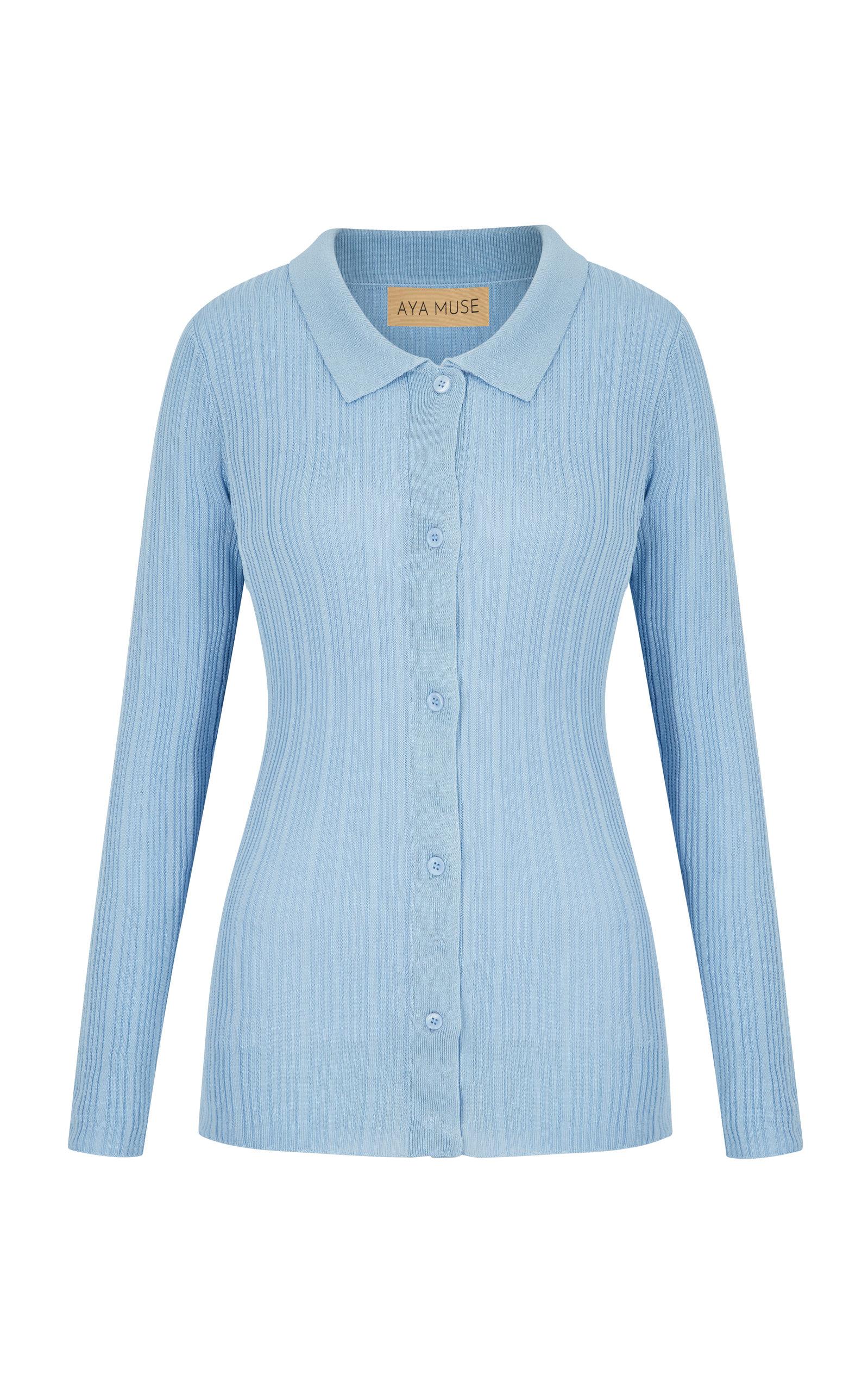 Women's Malachite Knit Button-Down Top