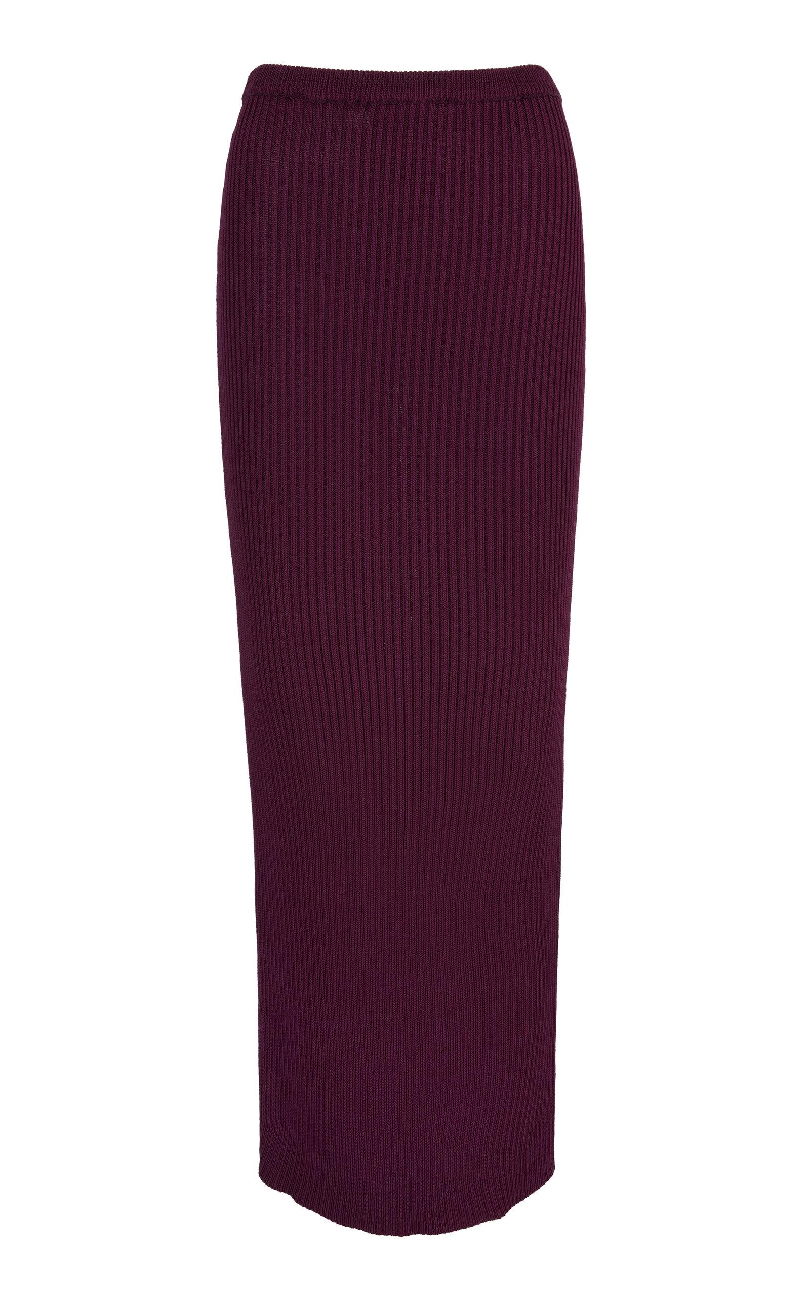 Women's Amethyst Ribbed Maxi Skirt